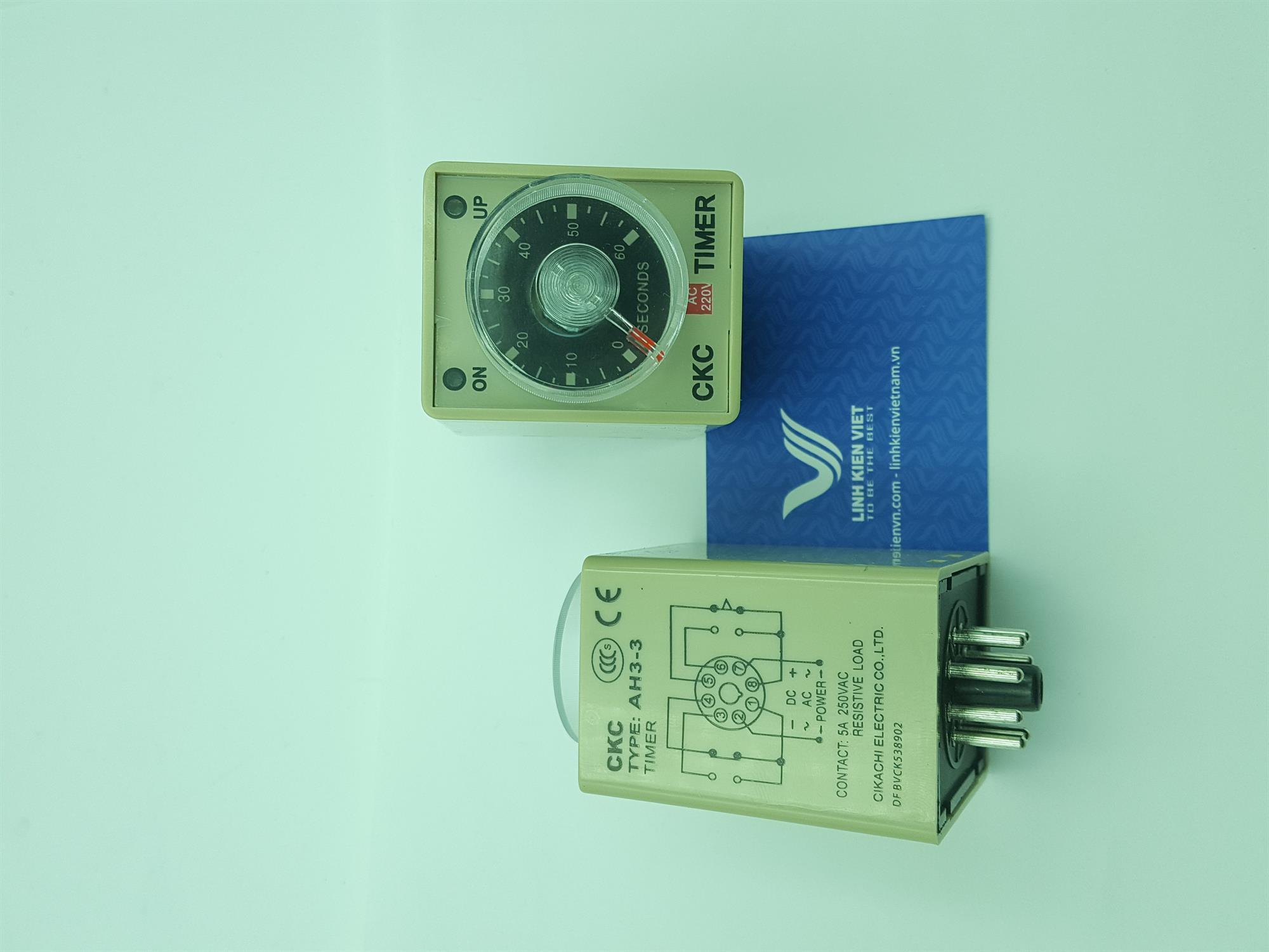Relay thời gian CKC AH3-3 220V 60 giây/ Timer CKC AH3-3 220V - J2H17
