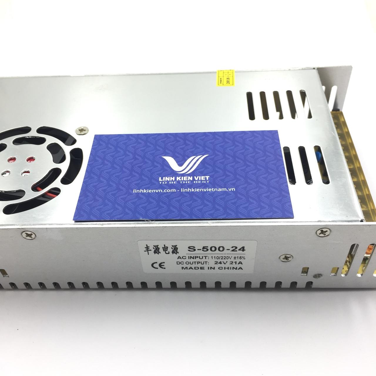Nguồn tổ ong 24V 21A S-500-24