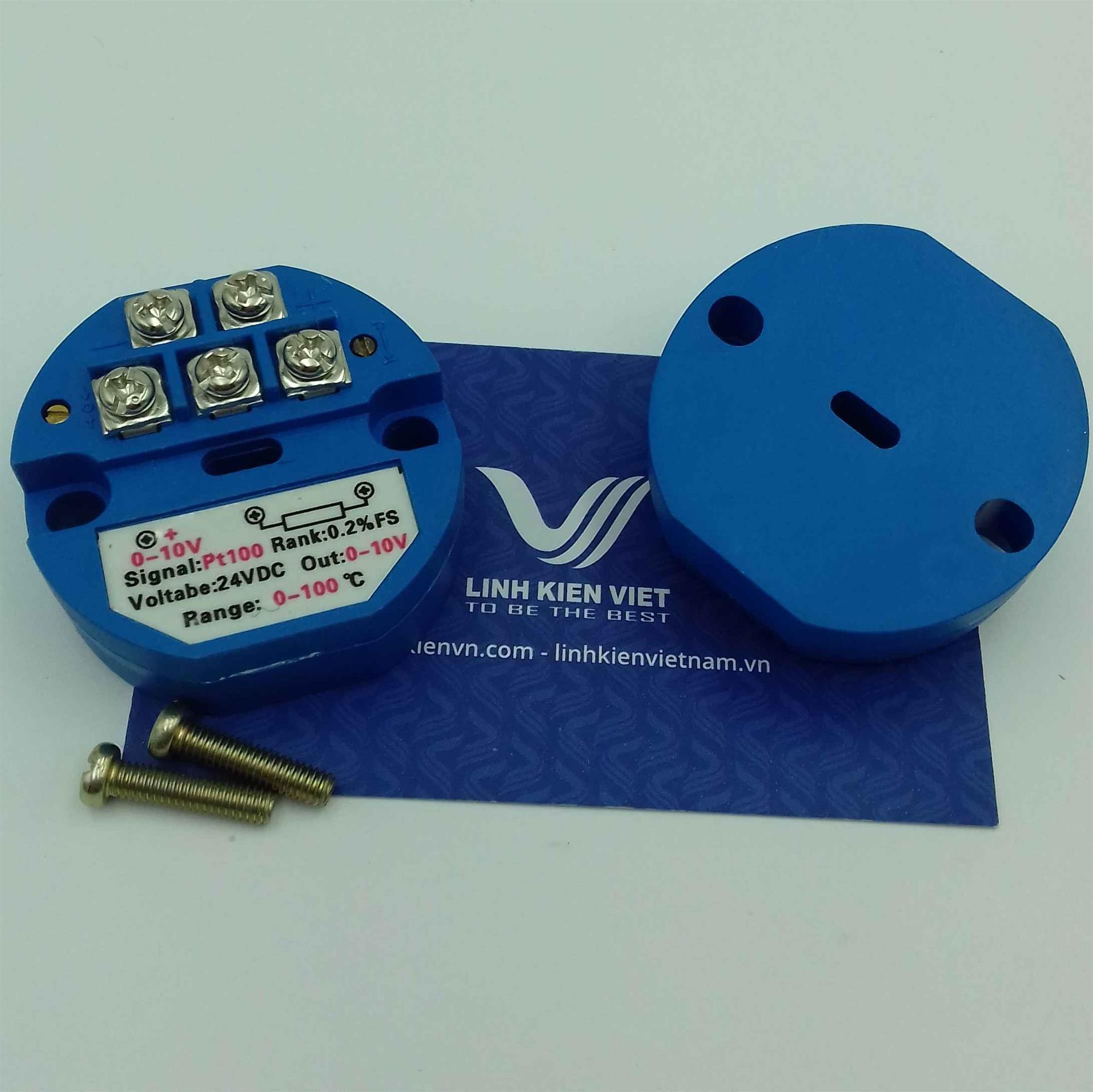 Bộ chuyển đổi nhiệt độ PT100 0-10VDC / 0-400 độ - i1H12