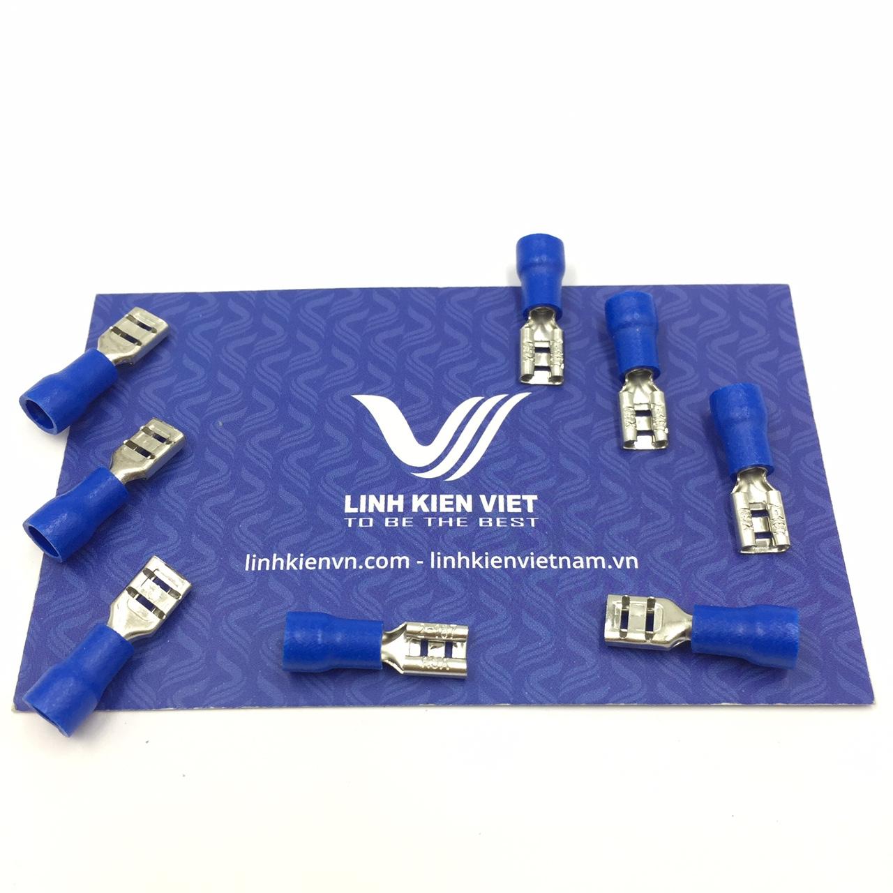 Đầu cốt chữ T 5mm FDD2-187 màu xanh - Gói 100 cái - S2H18