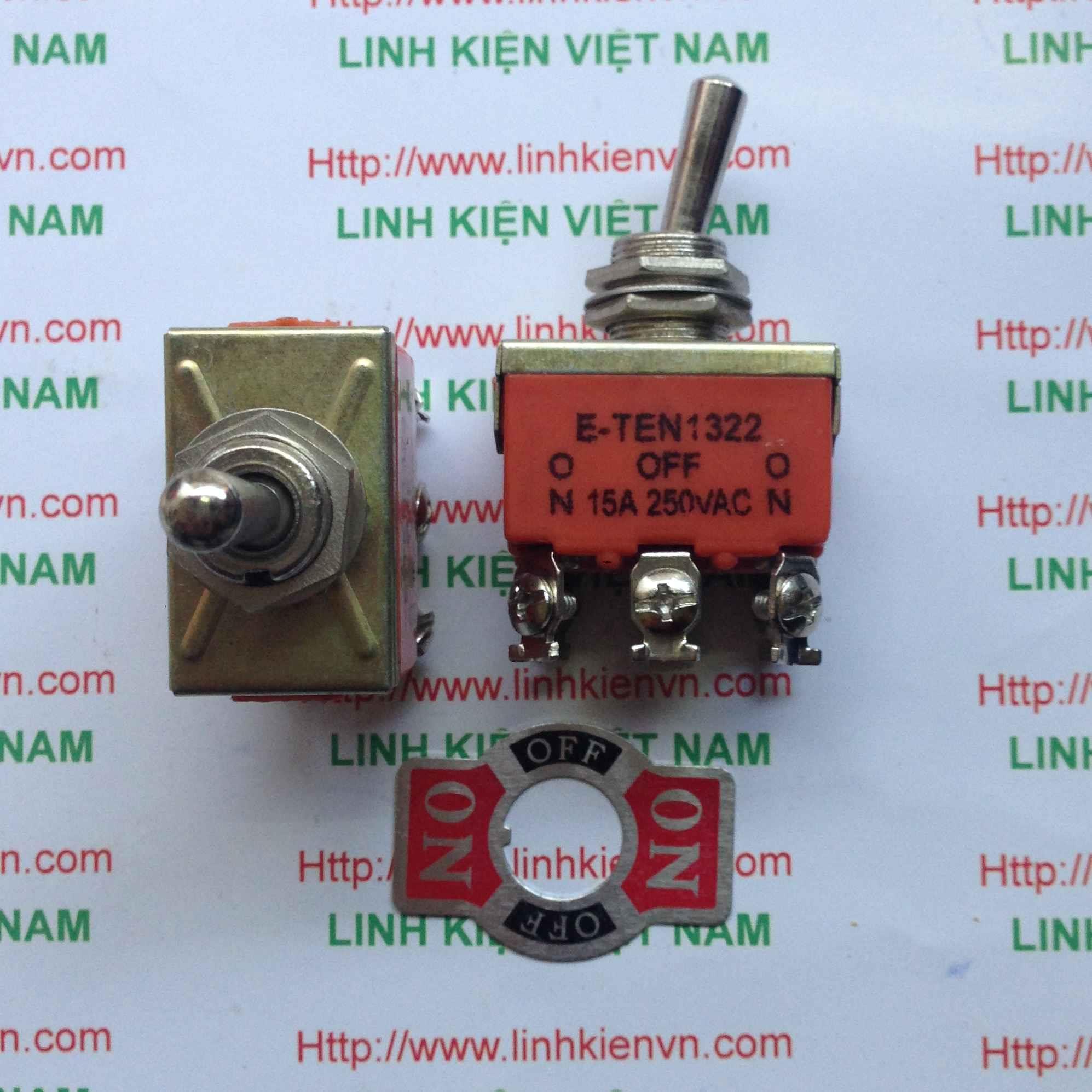 Công tắc E-TEN1322 15A 250V - 3 trạng thái - D3H12