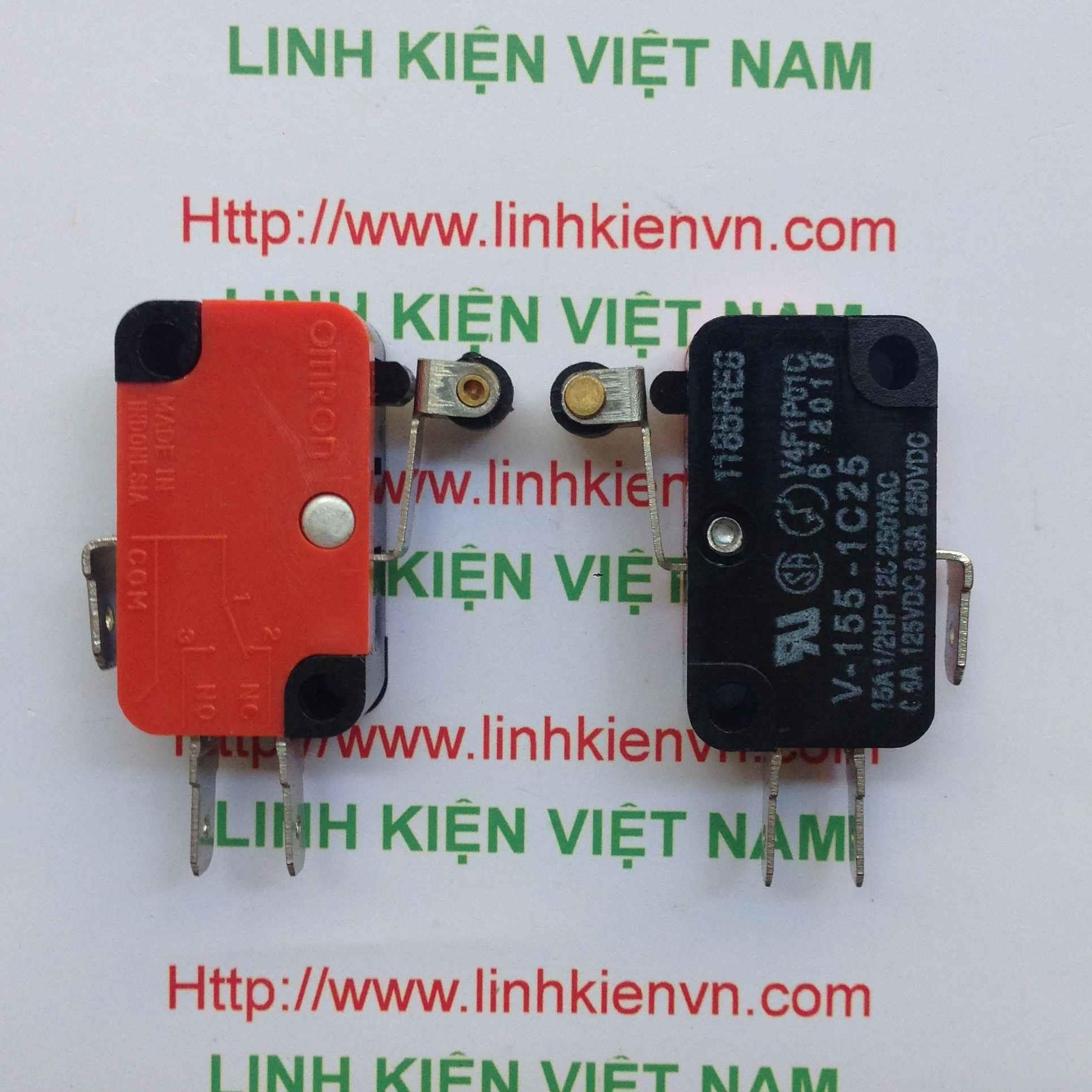 Công tắc hành trình 15A250V có bánh lăn V-155-1C25 - D3H14(KB6H2)