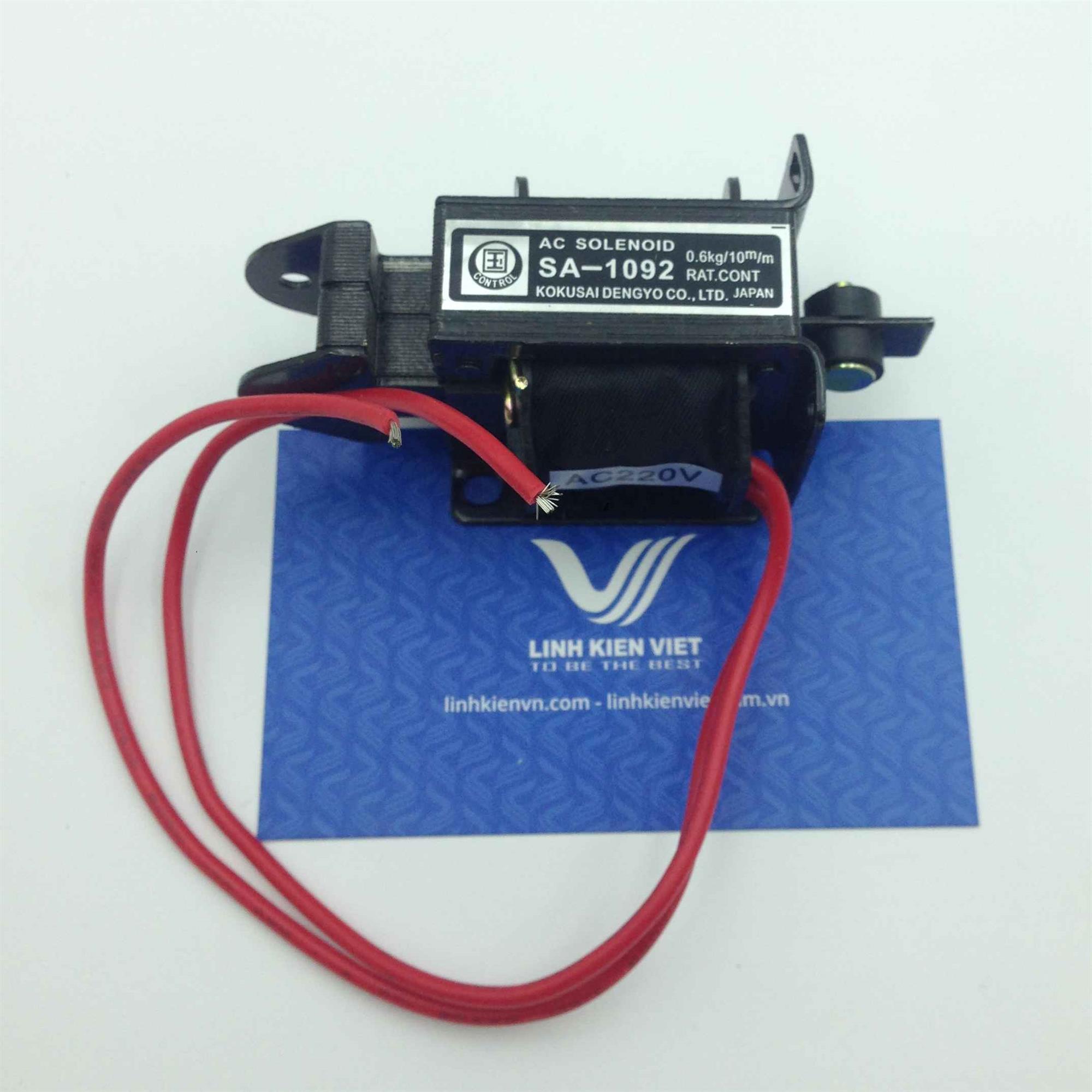 Cuộn hút 220V SA-1092 kéo 0.6kg hành trình 10mm - K3H1