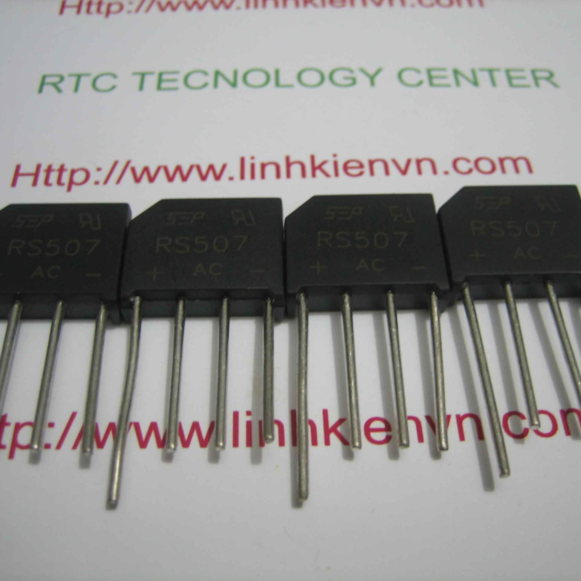 Diode cầu dẹt 5A RS507 - B6H16(KB3H3)