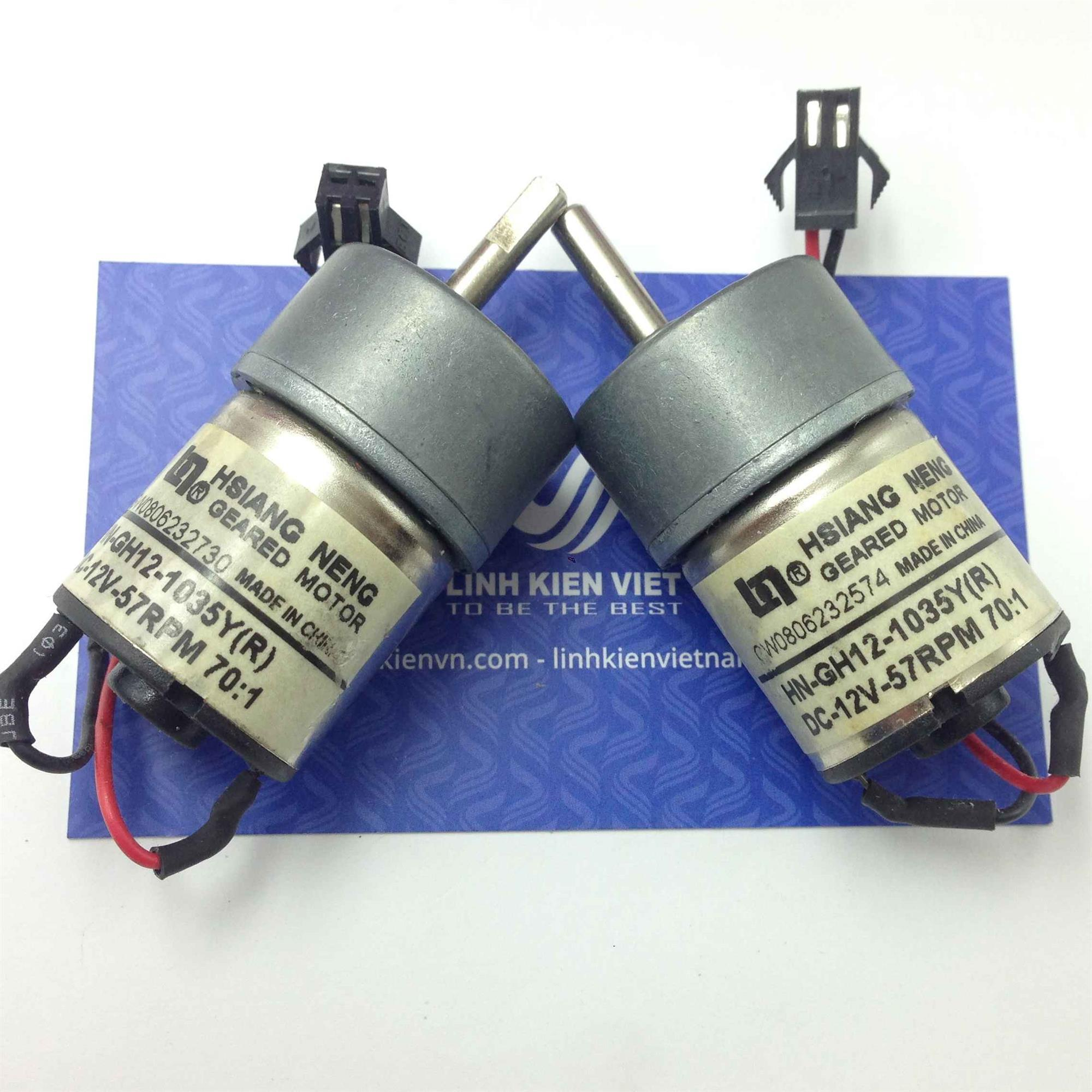 Động cơ giảm tốc HN-GH12-1035Y(R) / Motor HN-GH12-1035Y(R) / động cơ giảm tốc 12V - G8H20