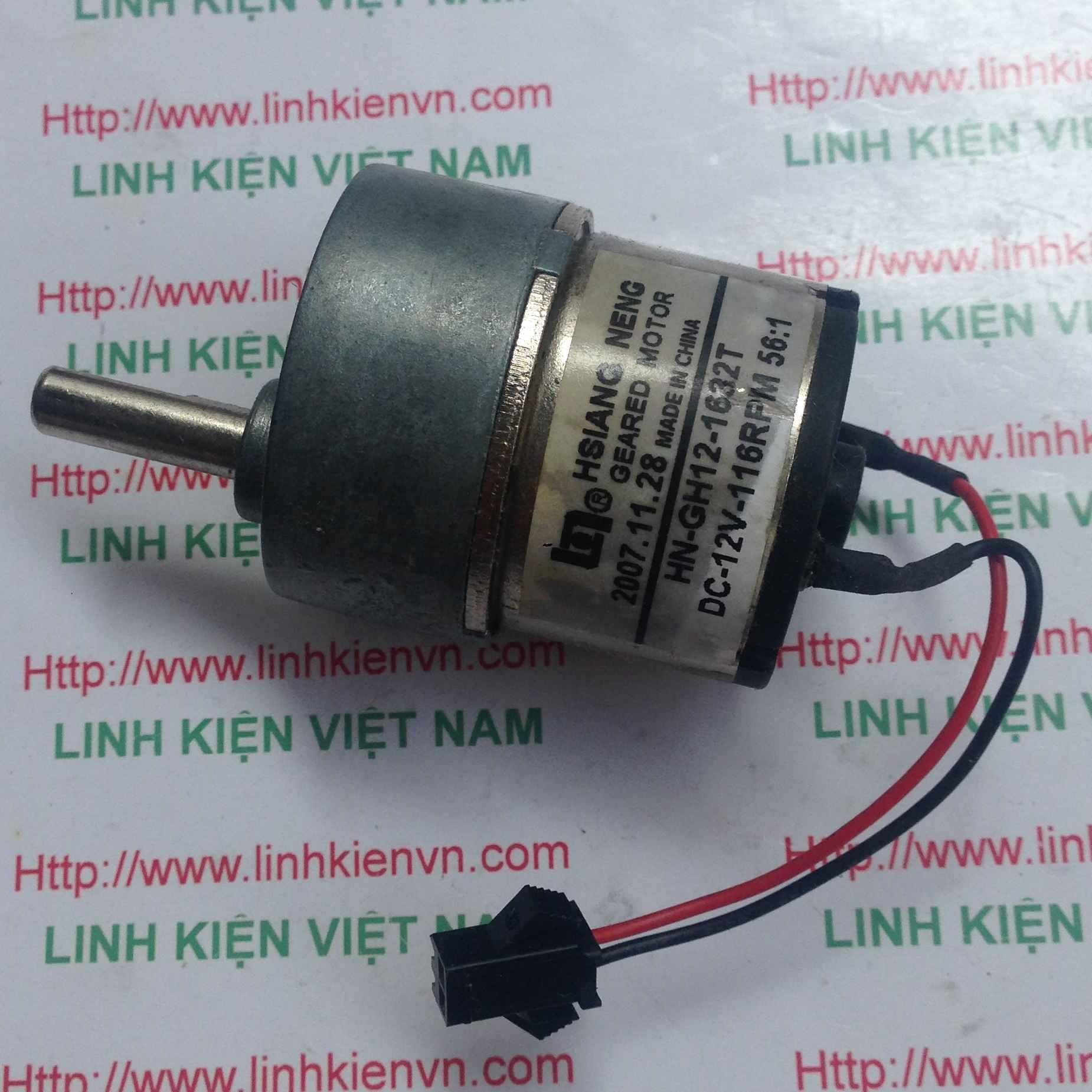 Động cơ giảm tốc HN-GH12-1632T/ Motor HN-GH12-1632/ động cơ giảm tốc 12V - G8H18