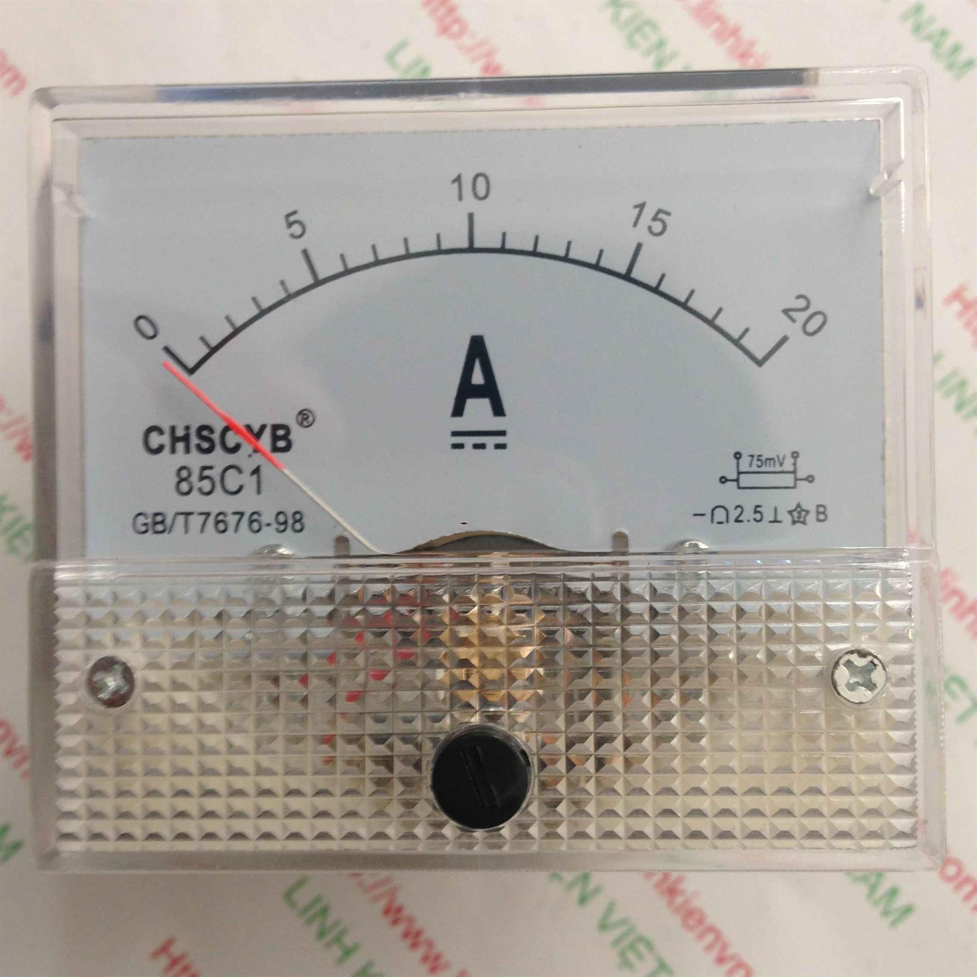 Đồng hồ đo dòng 85C1 20A / Ampe kế - G2H7