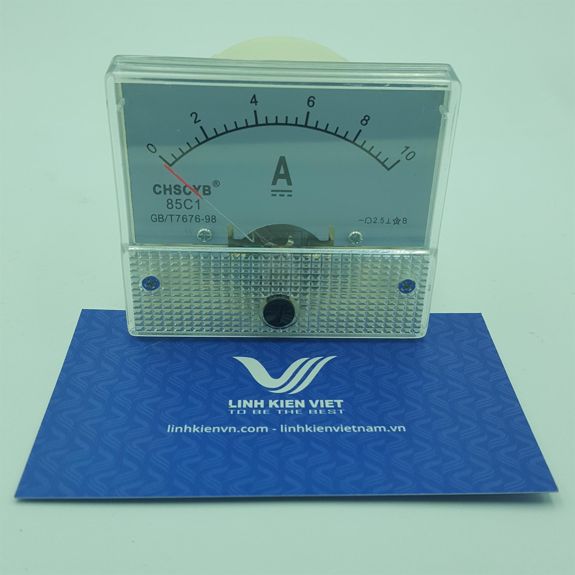 Đồng hồ đo dòng điện DC 85C1 10A / Ampe Kế 10A - G2H6