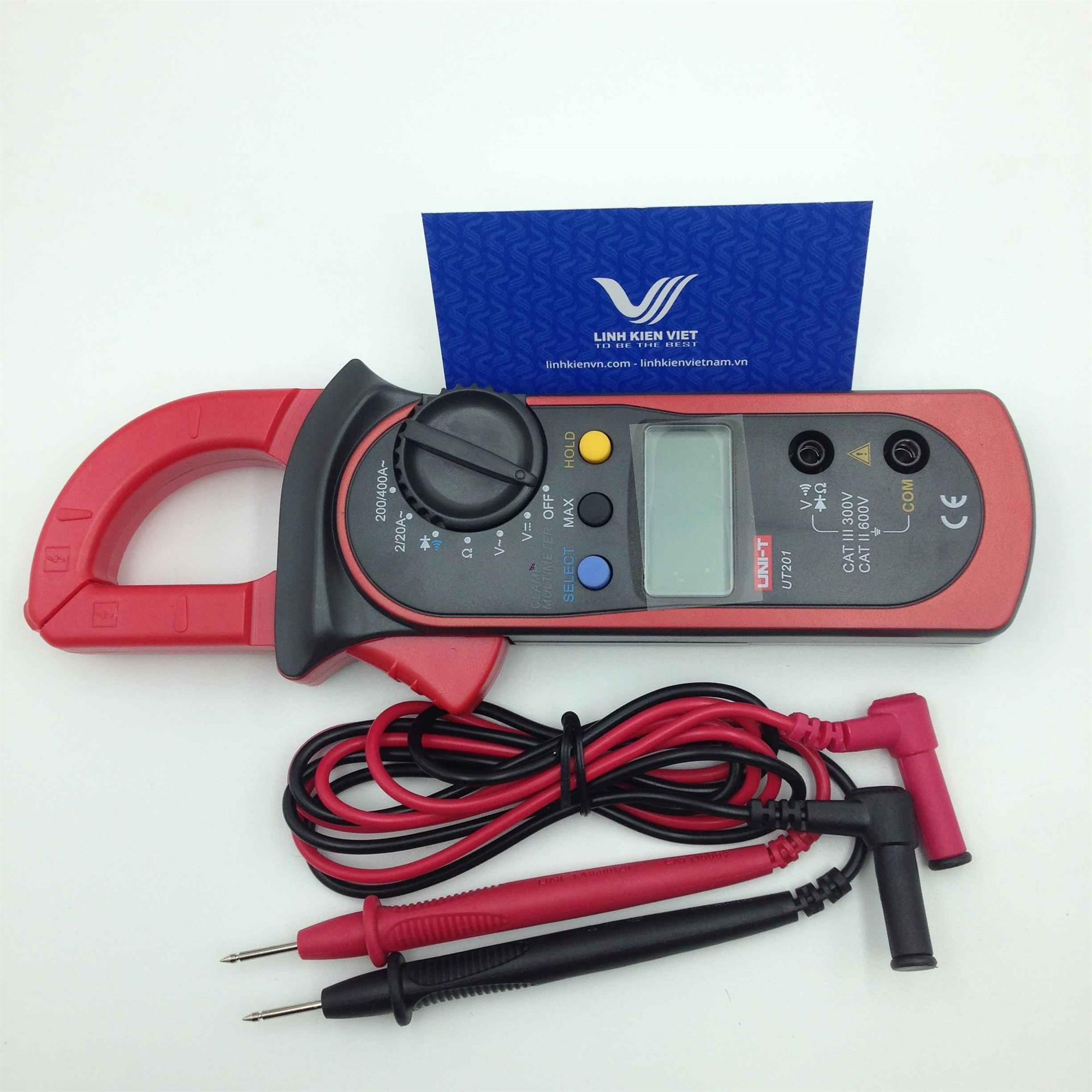 Đồng hồ vạn năng Uni-T UT201 - Ampe kìm / Kẹp dòng Uni-T UT201 / Kìm kẹp dòng điện Uni-T UT201
