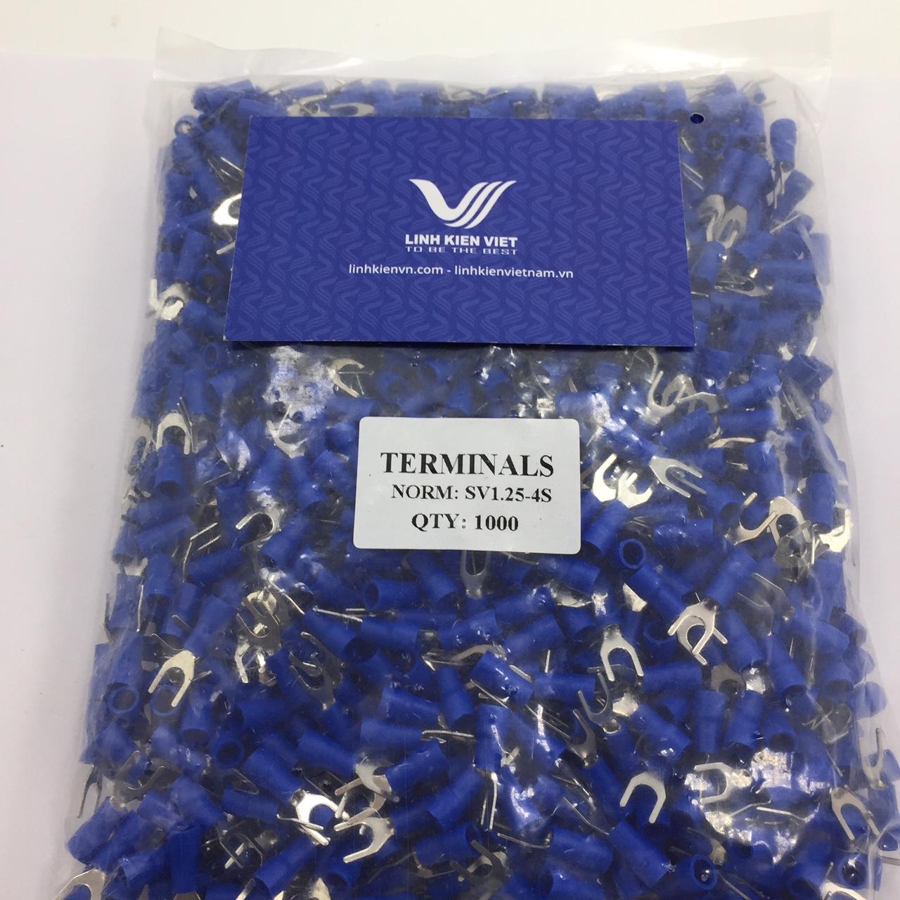 Đầu cốt chữ Y SV1.25-4S Màu xanh - túi 1000 cái - S2H13