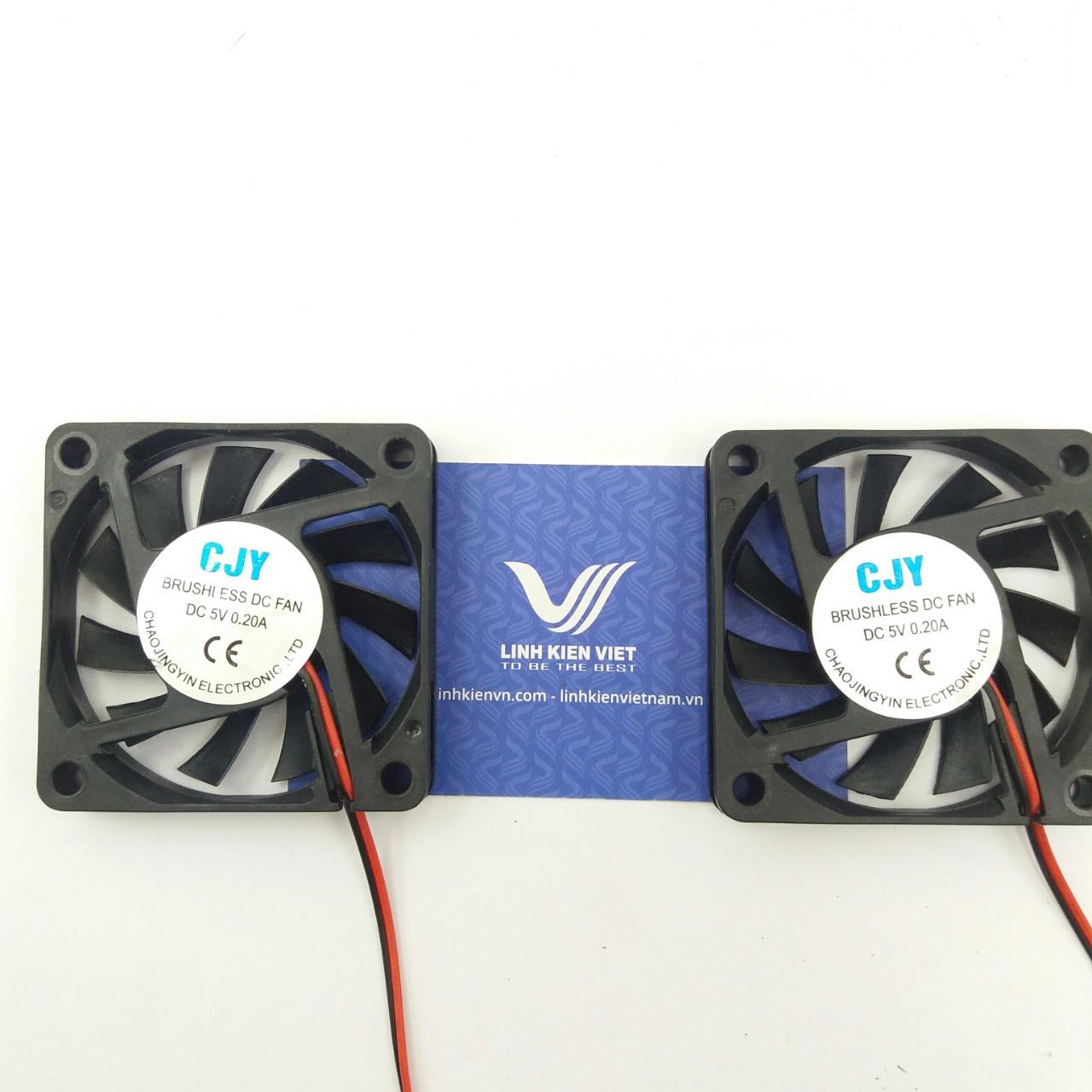 Quạt tản nhiệt 5V 6x6x1Cm / Quạt Fan 5V 6x6x1 Cm - i8H19