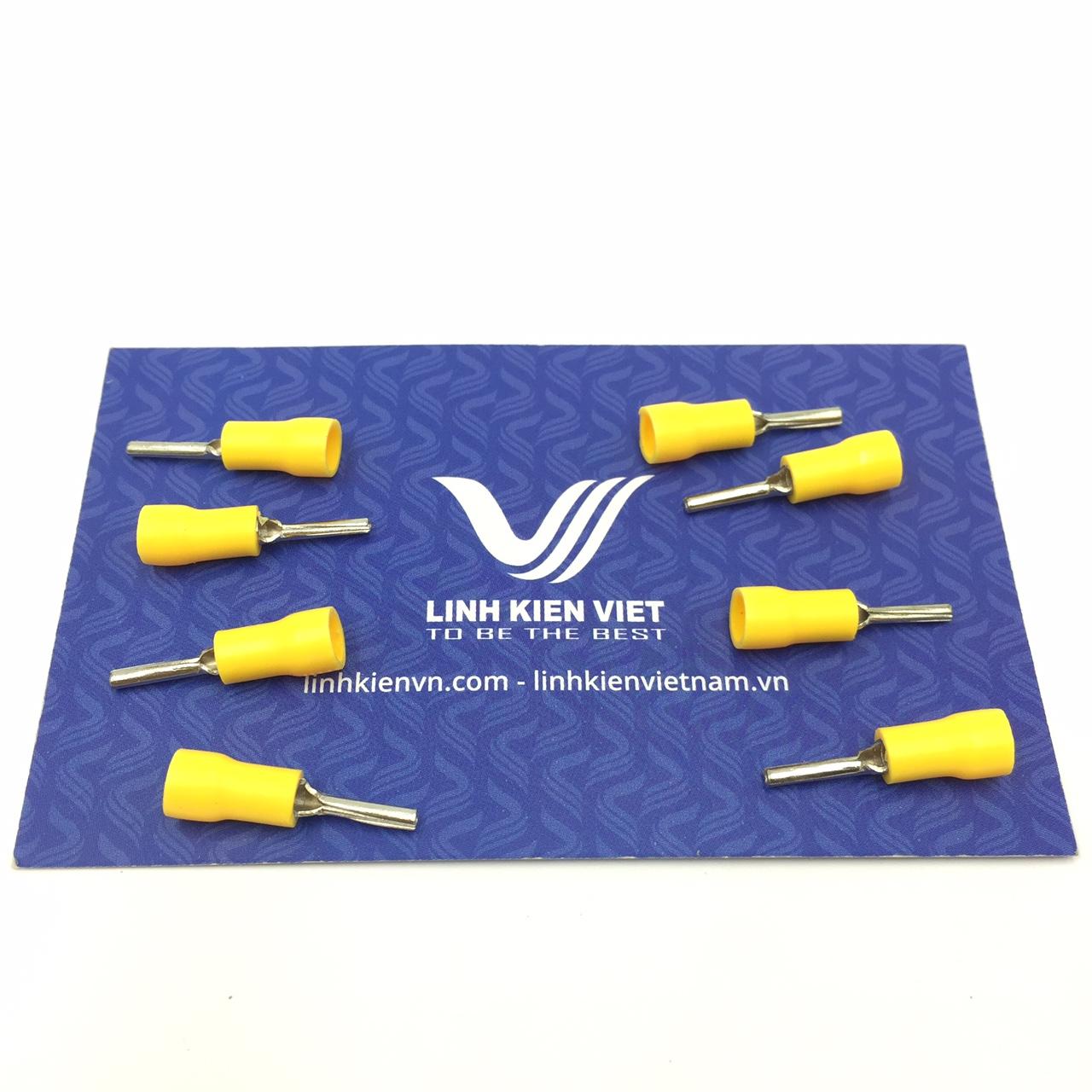 Đầu cốt kim PTV1.25-10 màu vàng - túi 100 cái - S2H16