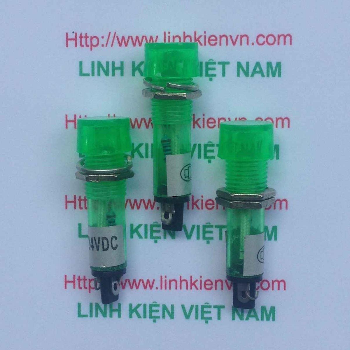 Led nguồn XD10-3 24V 10mm màu xanh / Led tủ điện 24V / Đèn 24V - G8H13