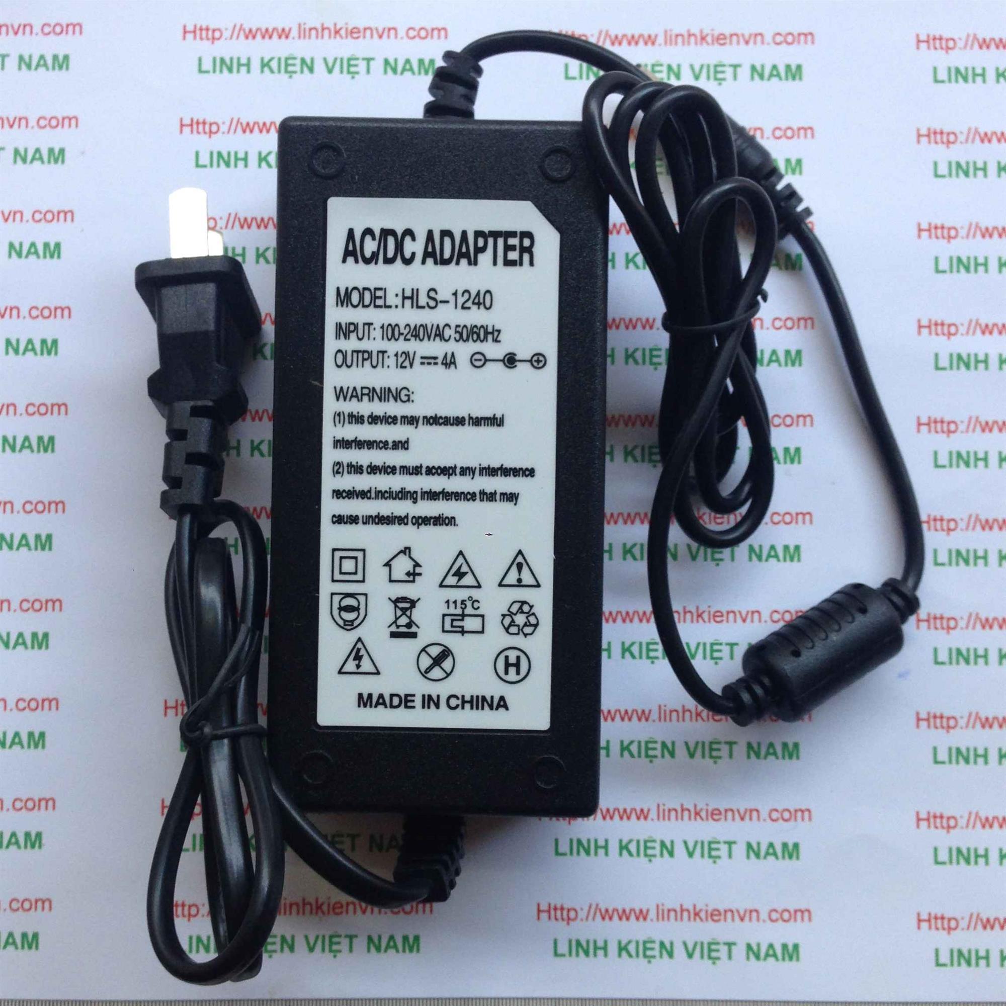 Nguồn adapter 12v 4A - KHO B(KA12H2)