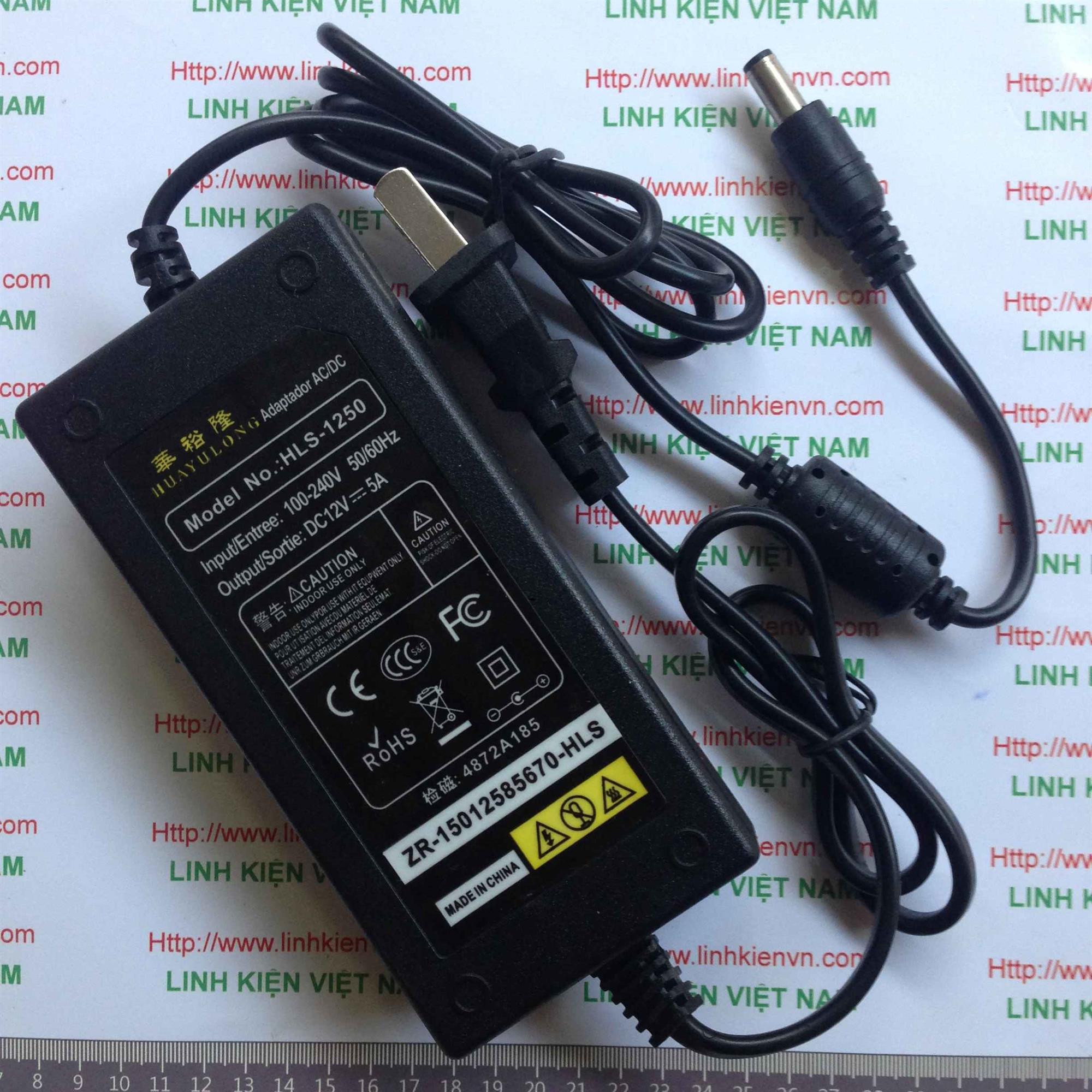 Nguồn adapter 12v 5A - KHO B(KA8H3)