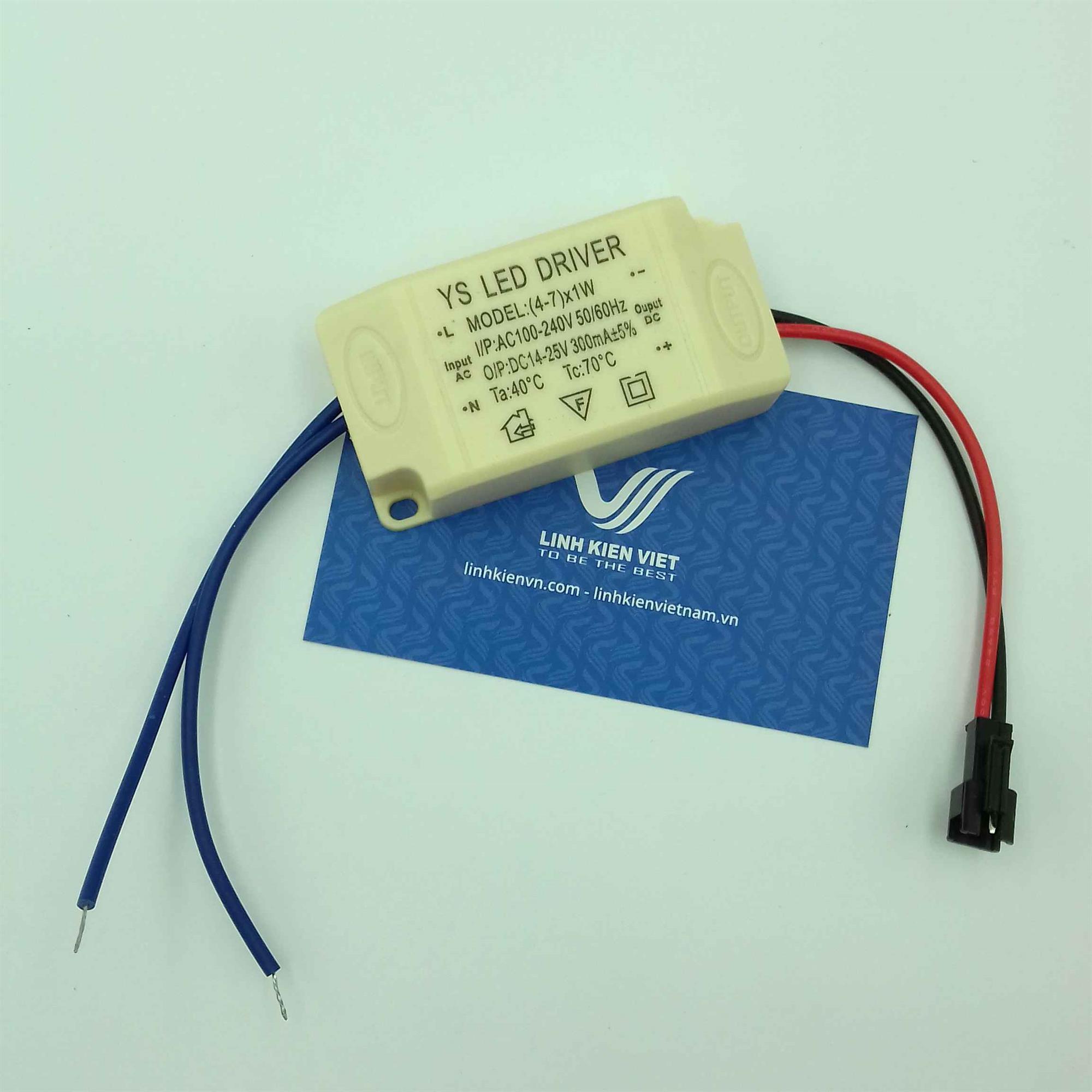 Nguồn driver cho led luxeon 1w-7w / Nguồn driver LED / Led Driver 7x1W - i2H2 (KB10H3)