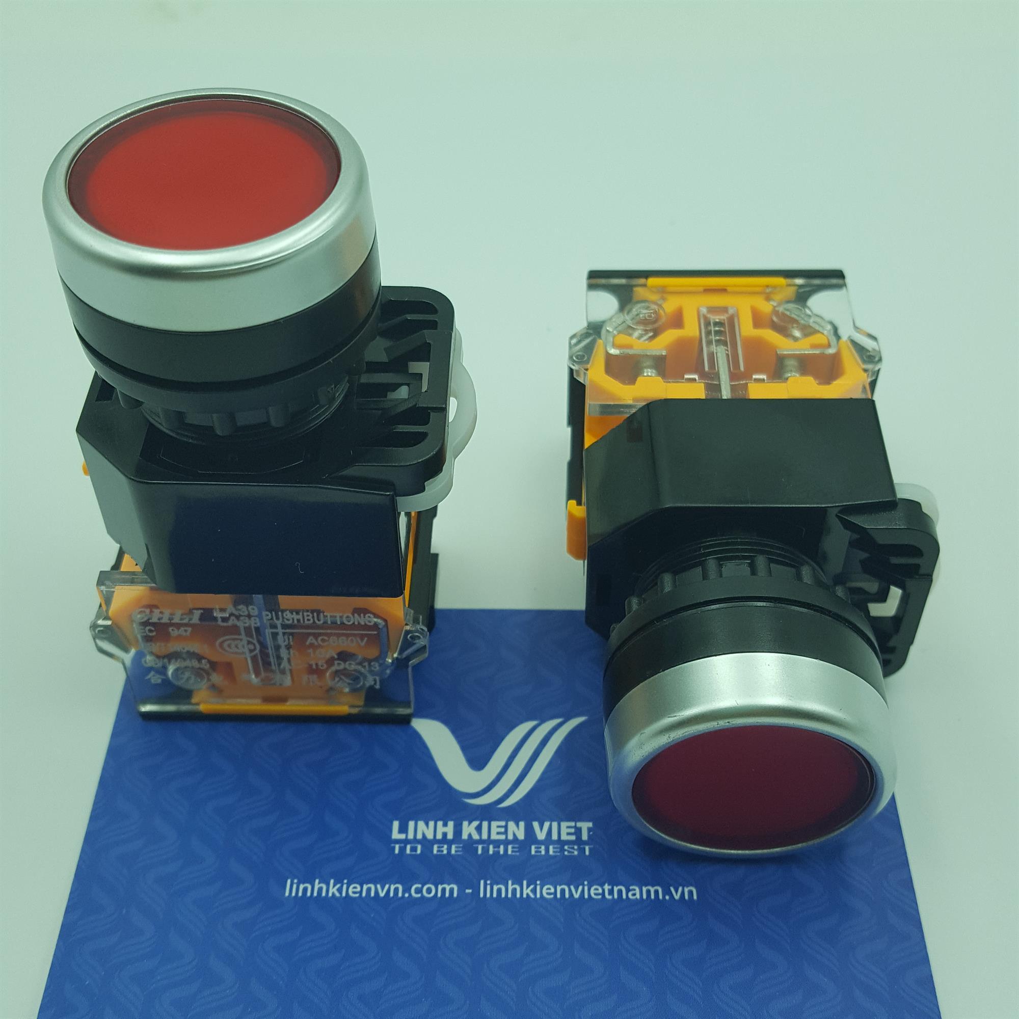 Nút nhấn LA38-11 22mm màu đỏ - J5H13