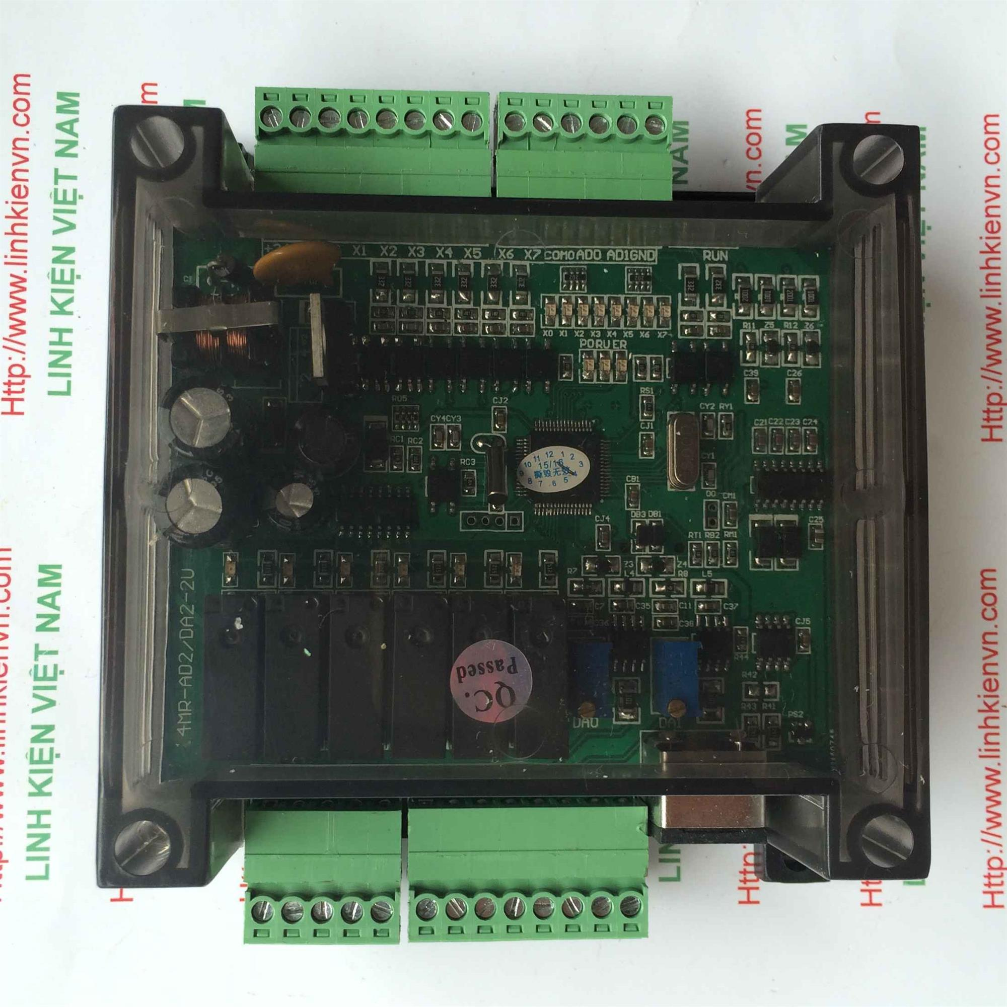 PLC board FX1N-14MR CÓ VỎ TÍCH HỢP 3AD-2DA - KHO B