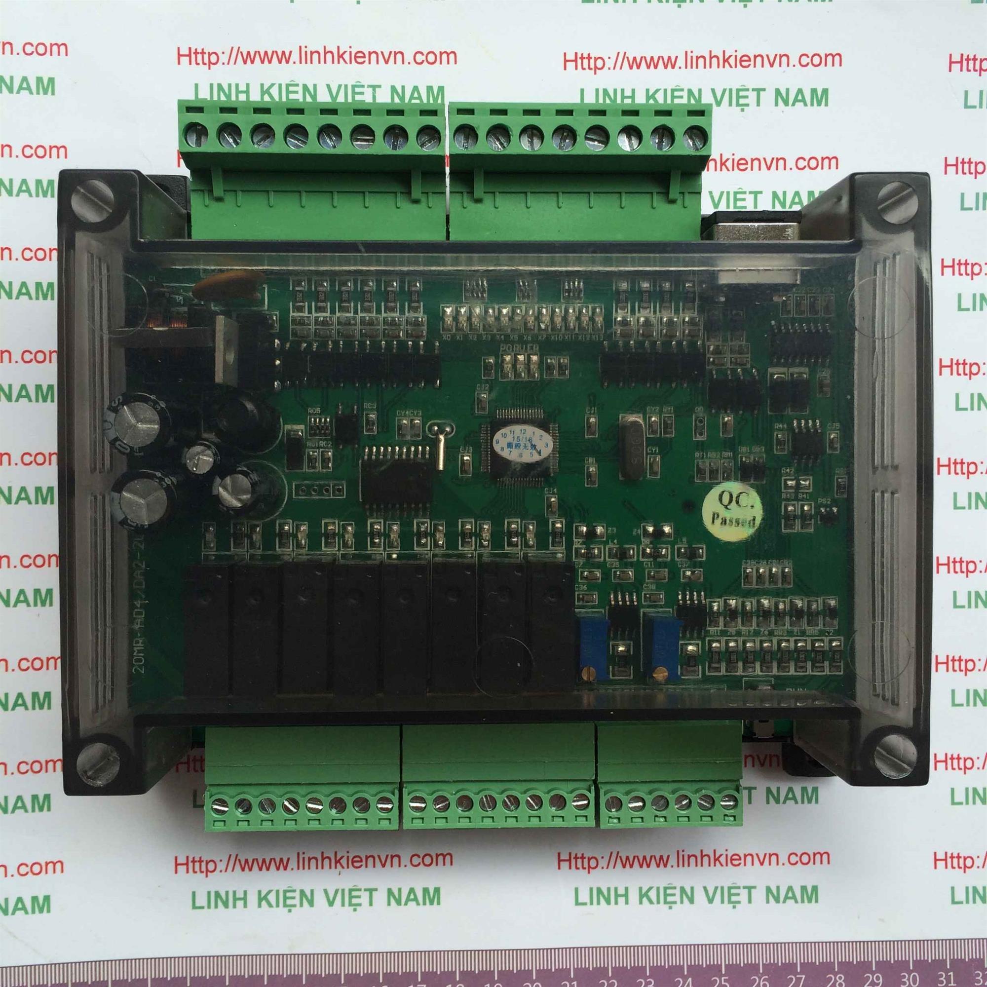 PLC board FX1N-20MR CÓ VỎ TÍCH HỢP 2AD-2DA - KHO B