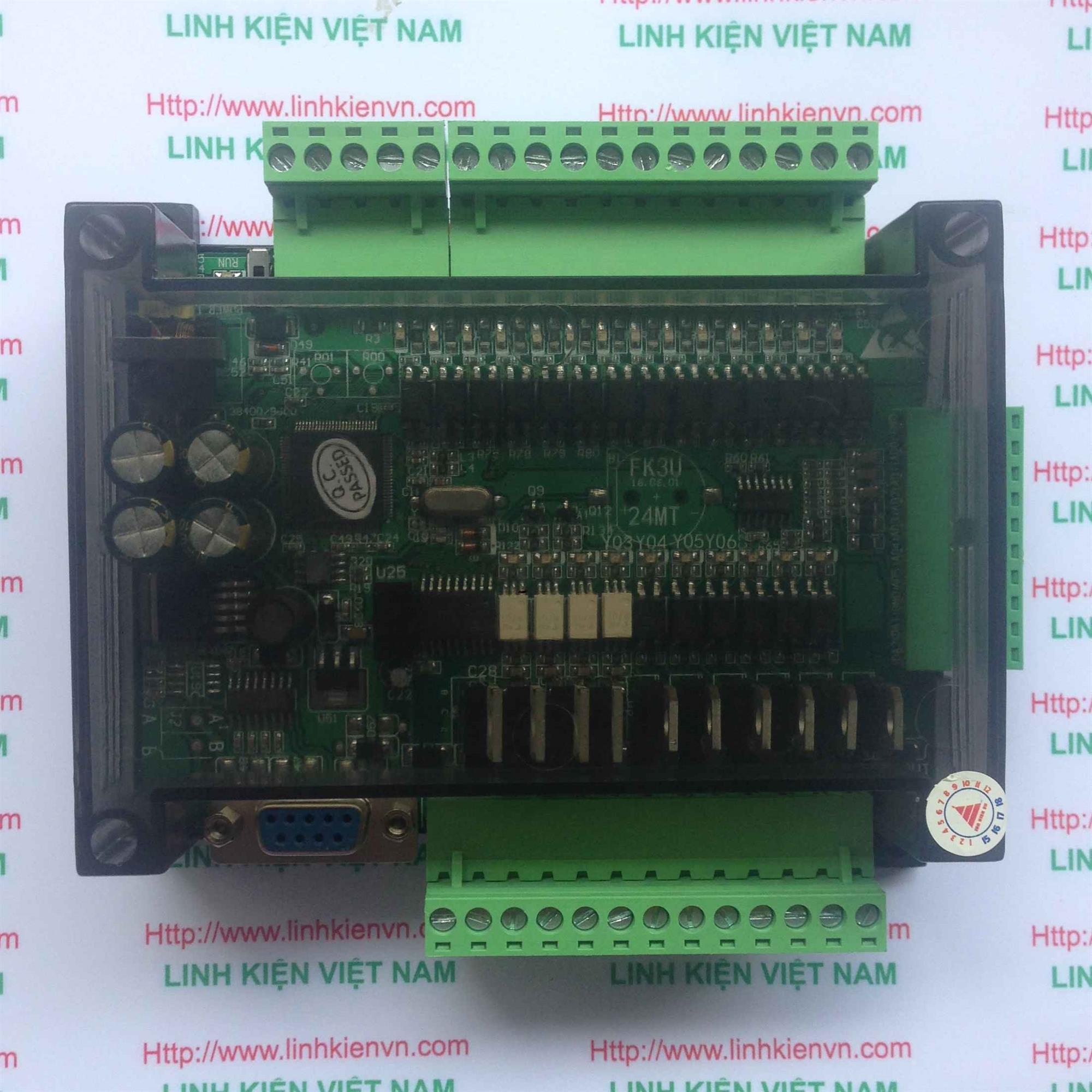 PLC board FX3U-24MT CÓ VỎ TÍCH HỢP 6AD-2DA - KHO B