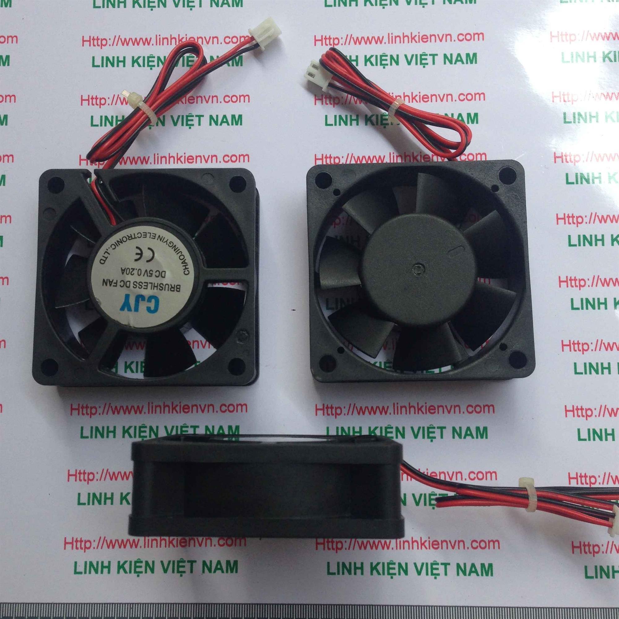 Quạt tản nhiệt 6020 5V 6x6x2cm - G7H17