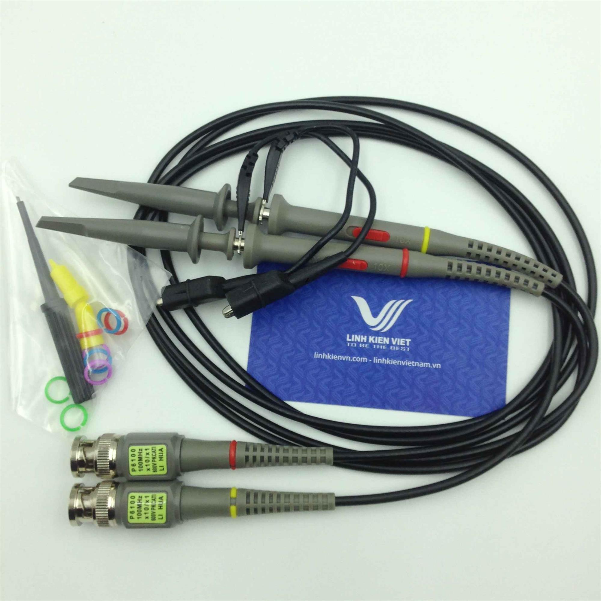 Que đo máy hiện sóng 100Mhz / Dây đo oscillo 100Mhz / Oscilloscope probe 100Mhz 1 chiếc