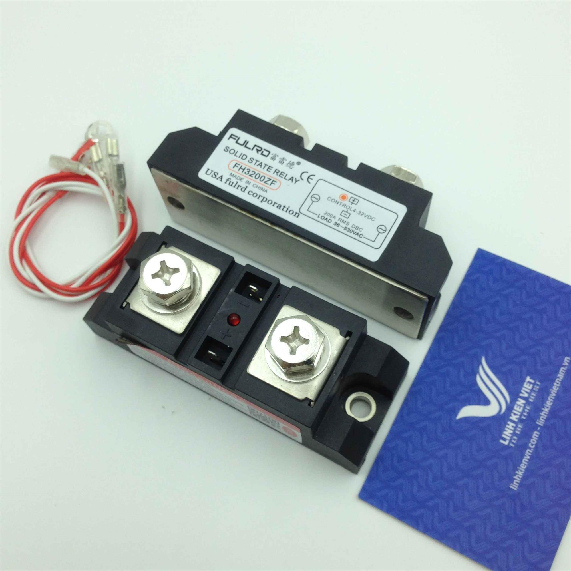 Relay bán dẫn 200A 6-530VAC SSR-200DA - (KB4H3)