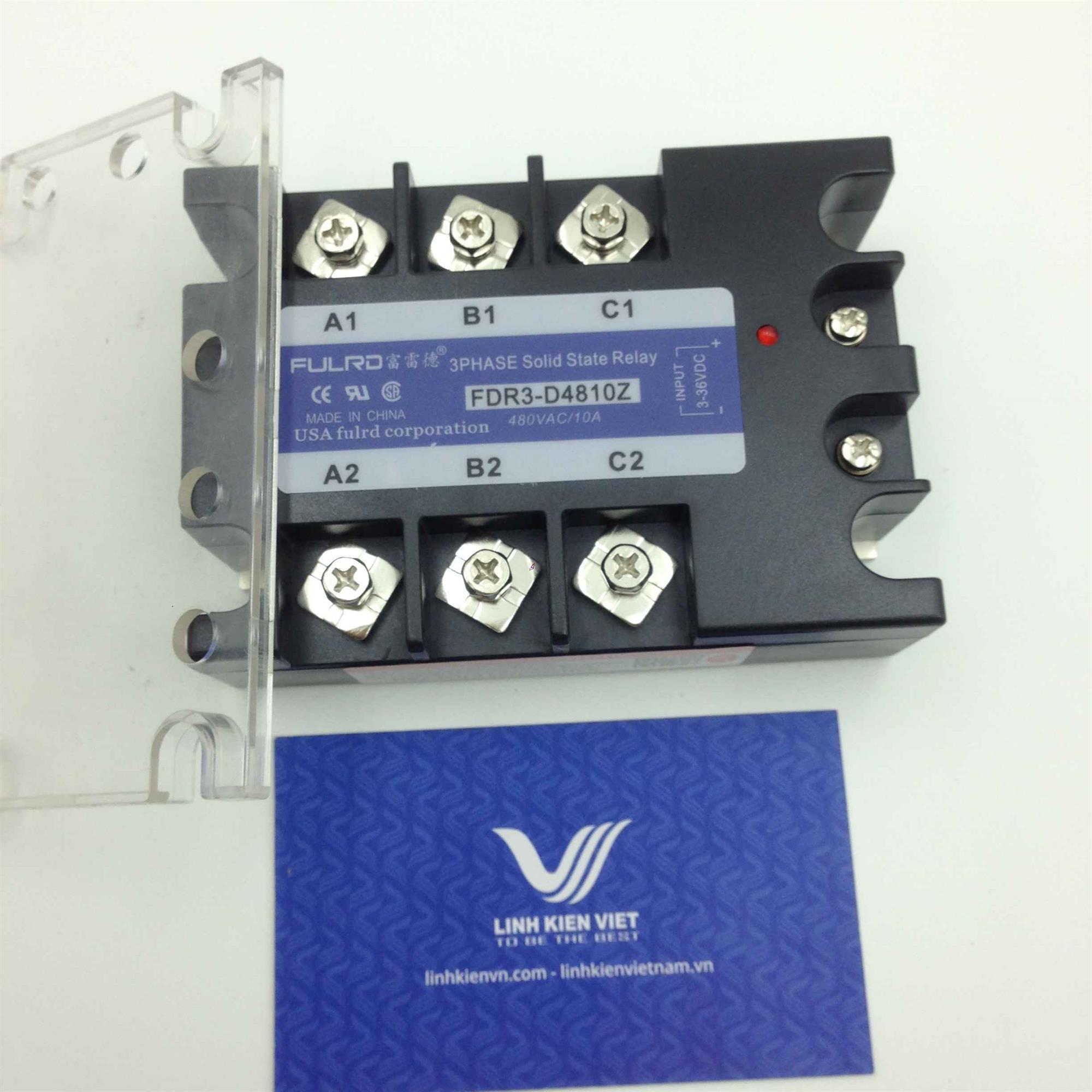 Relay bán dẫn 3 pha SSR 10A FDR3-D4810Z - (KB4H3)