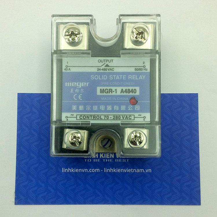 Relay bán dẫn MGR-1 A4840 SSR 40A Input: 70 - 280 VAC - K2H19 - (KB4H3)