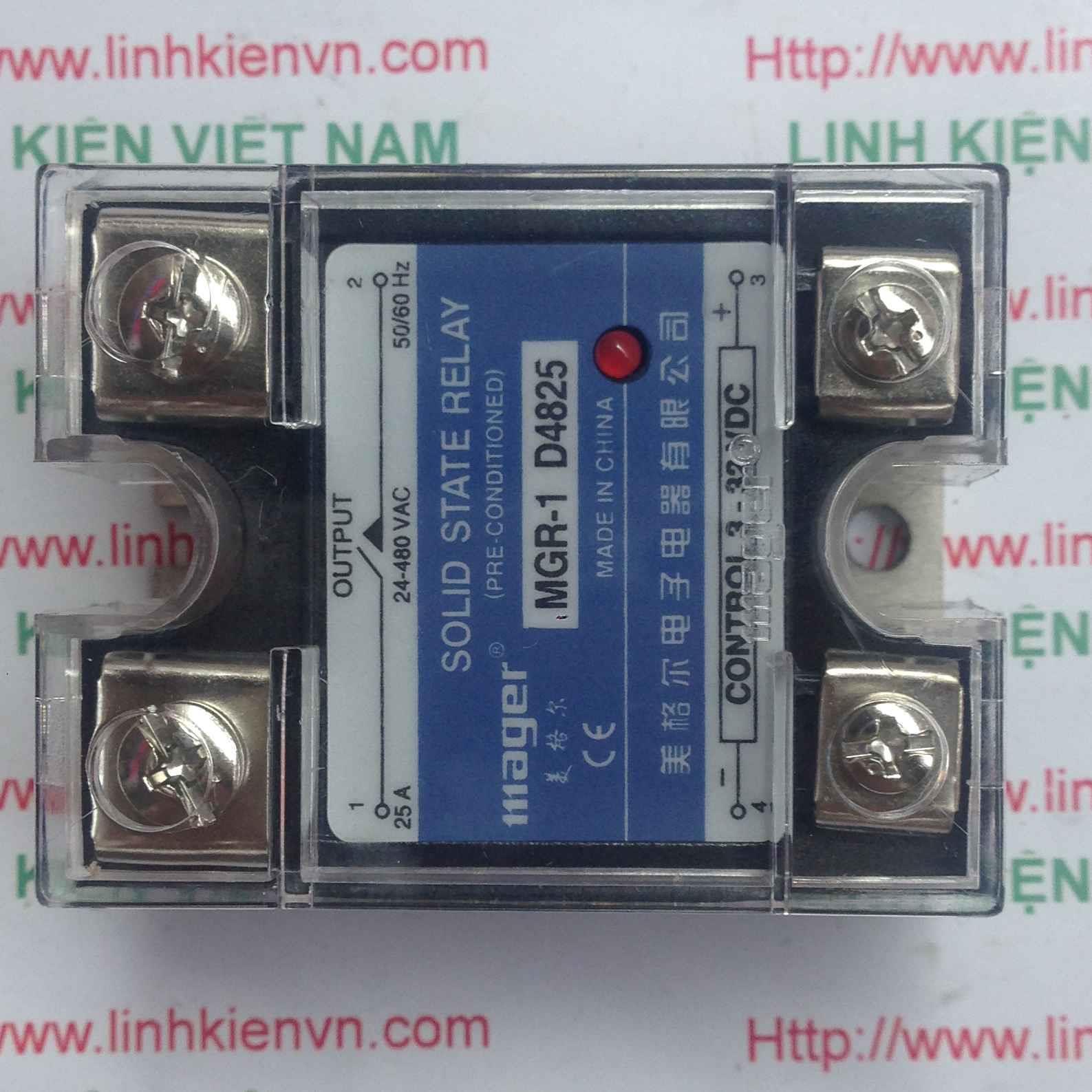 Relay bán dẫn SSR 25A MGR-1 D4825/Solid relay Mager - I3h10 (KB4H3)