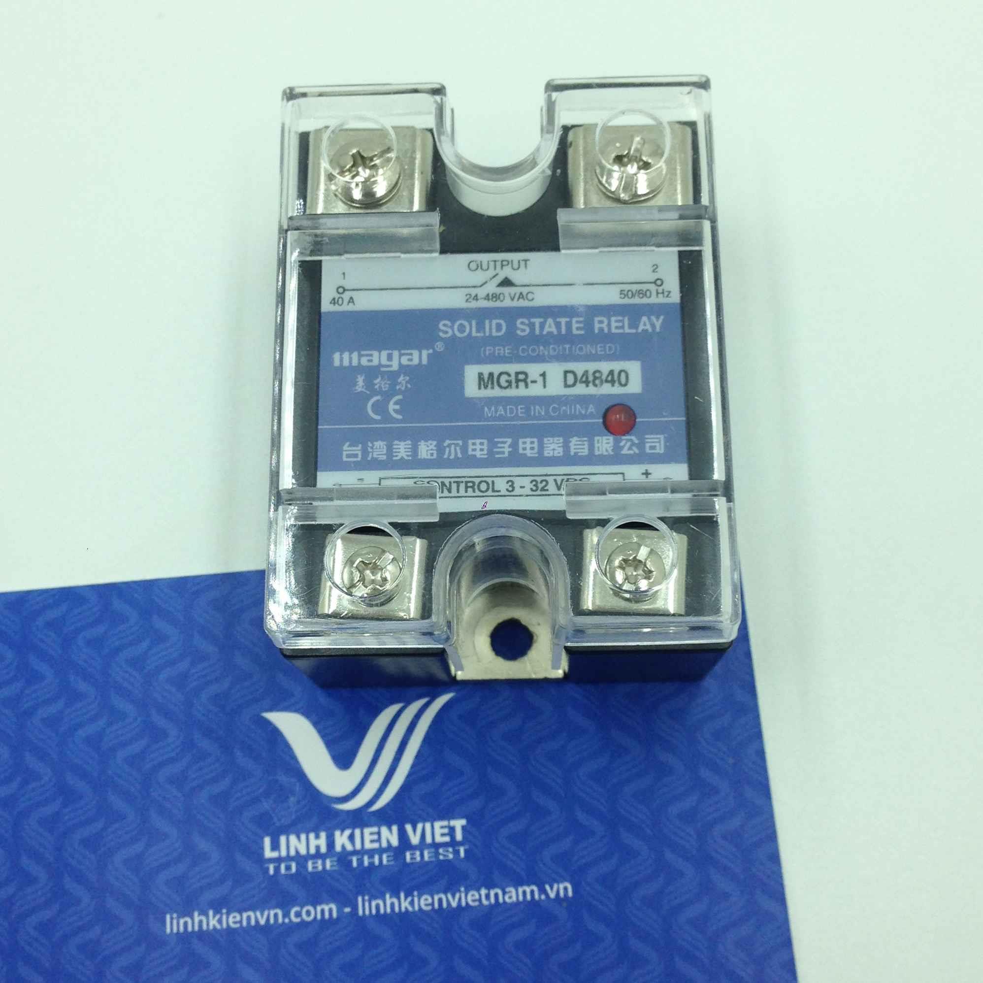 Relay bán dẫn SSR 40A Input 3 - 32VDC 480V MGR-1 D4840 - i3h11 - (KB4H3)
