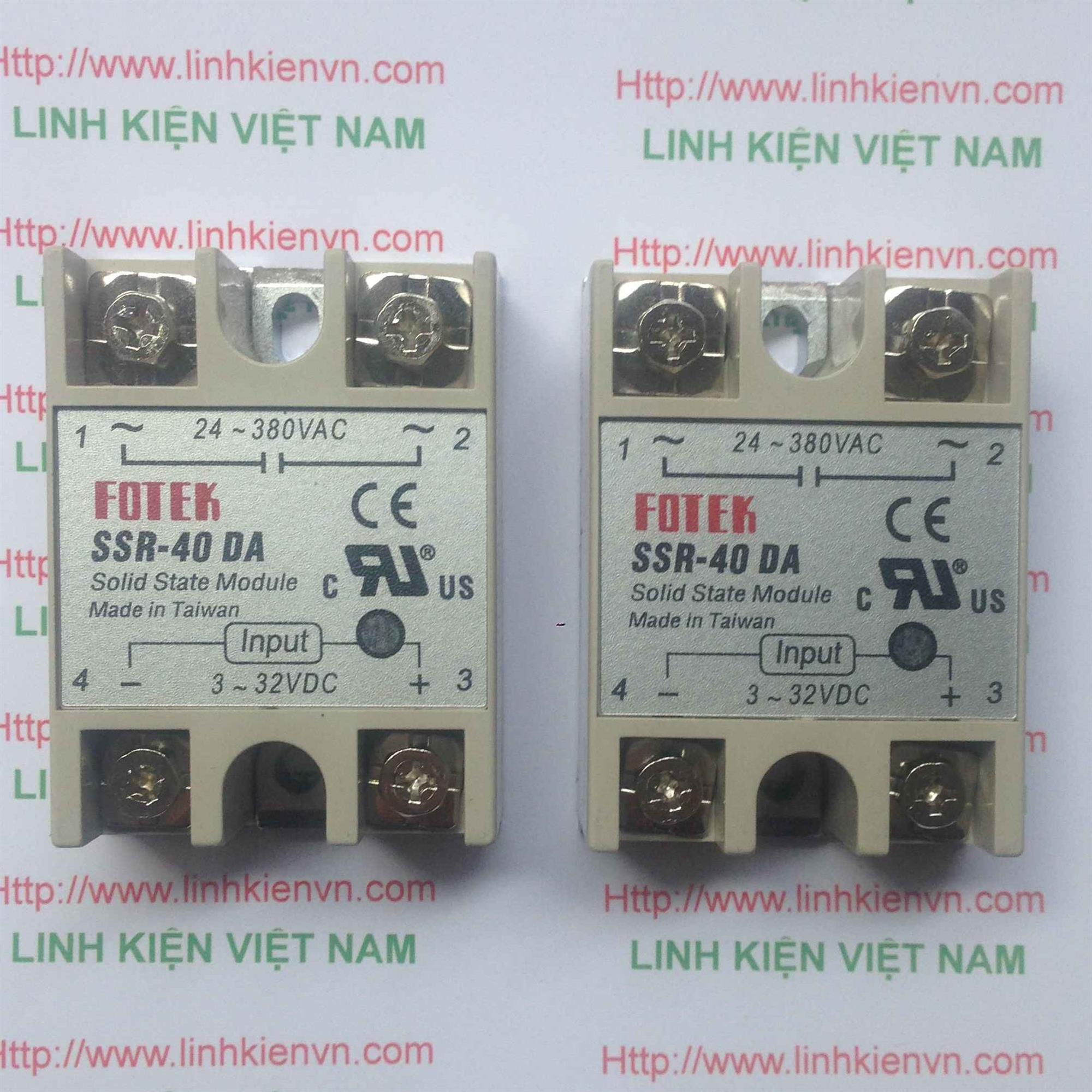 Relay bán dẫn SSR-40DA SSR40DA 40A - G3H5(KB4H3)