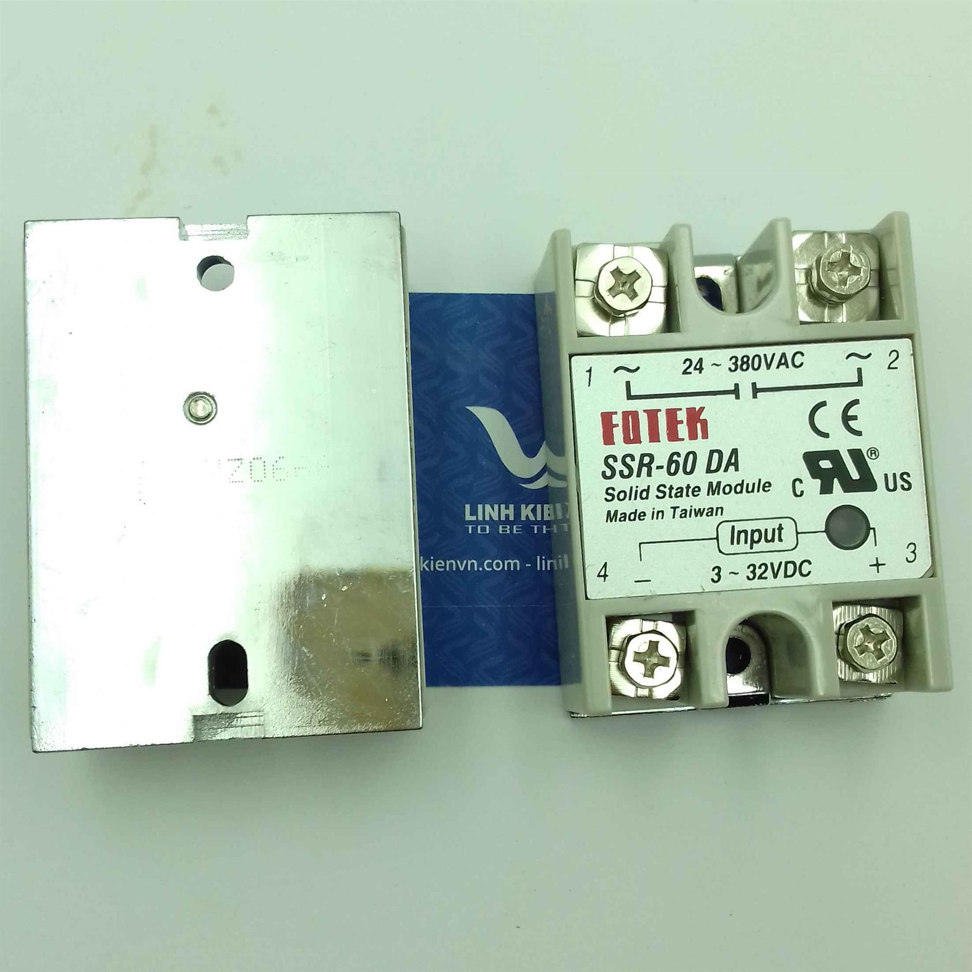 Relay bán dẫn SSR-60DA SSR60DA 60A - J4H8(KB4H3)