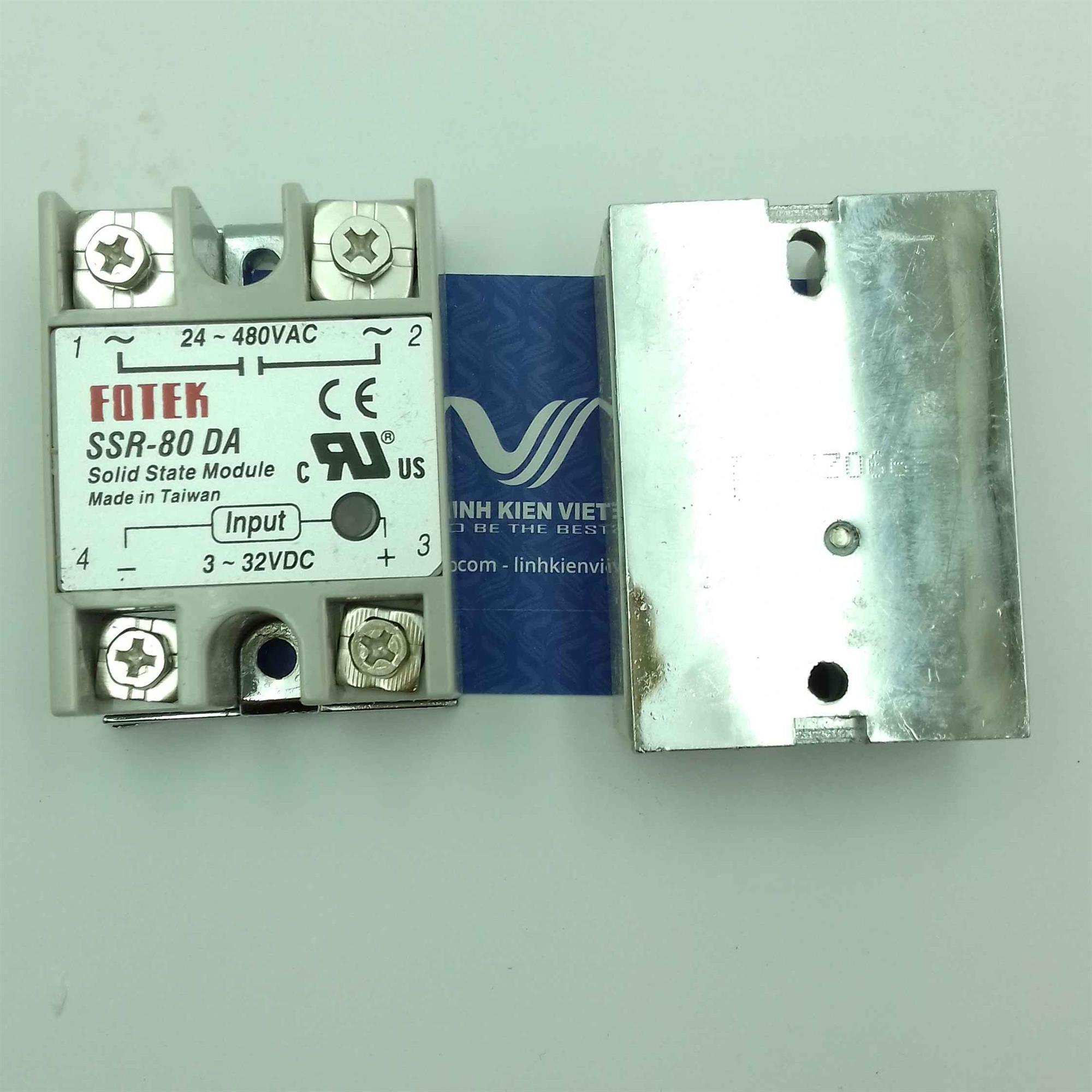 Relay bán dẫn SSR-80DA SSR80DA 80A - J4H7(KB4H3)