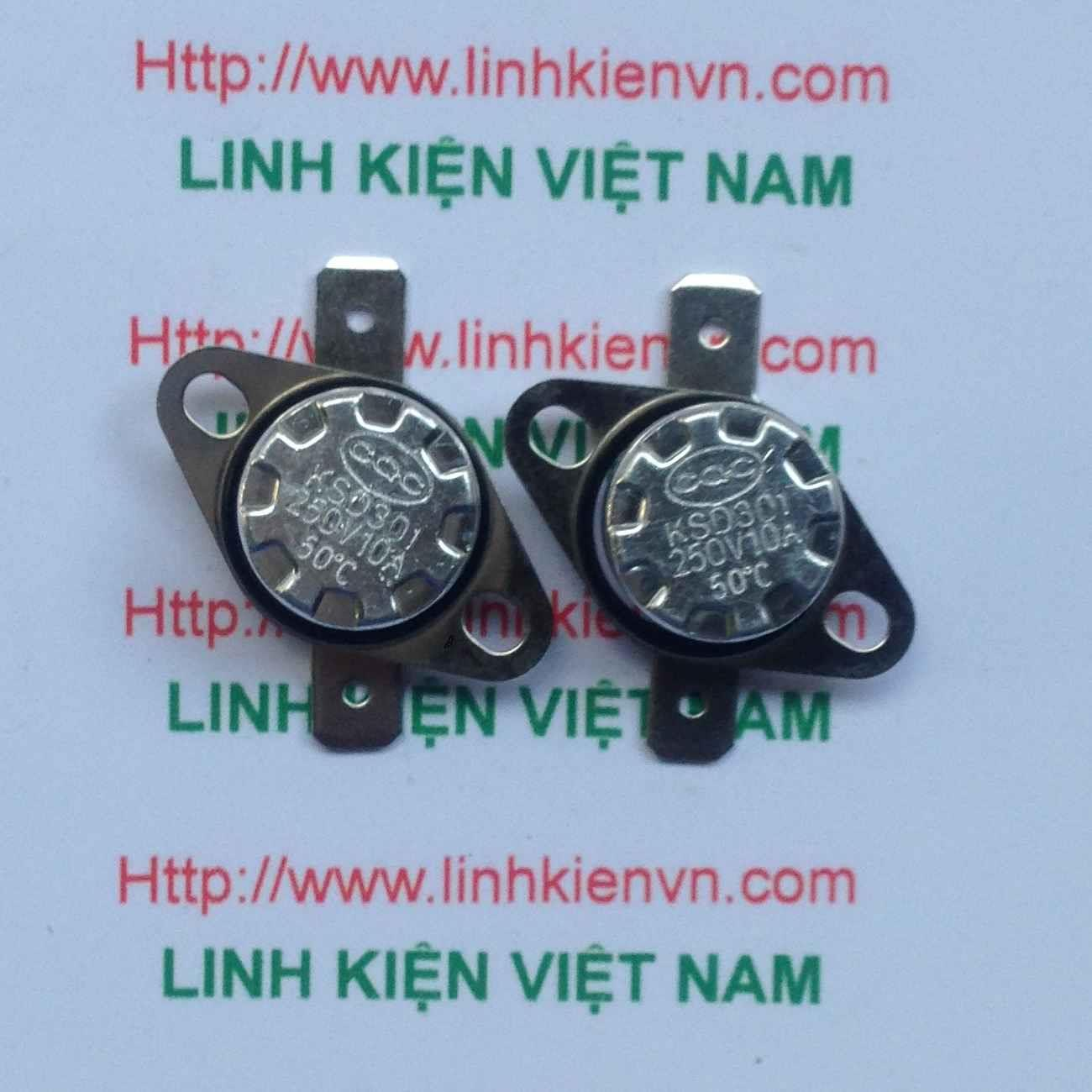 Relay nhiệt KSD301 50 độ - THƯỜNG ĐÓNG/ Relay nhiệt KSD301 10A/250V  - G3H8