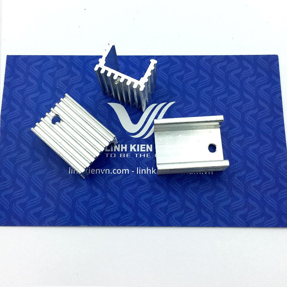 Tản nhiệt nhôm 15x10x20mm - trắng-K1H15
