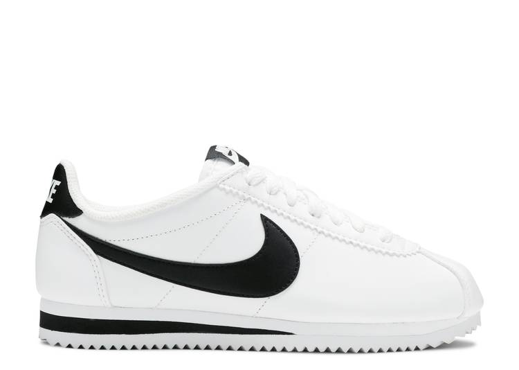 WMNS CLASSIC CORTEZ LEATHER 'WHITE BLACK'