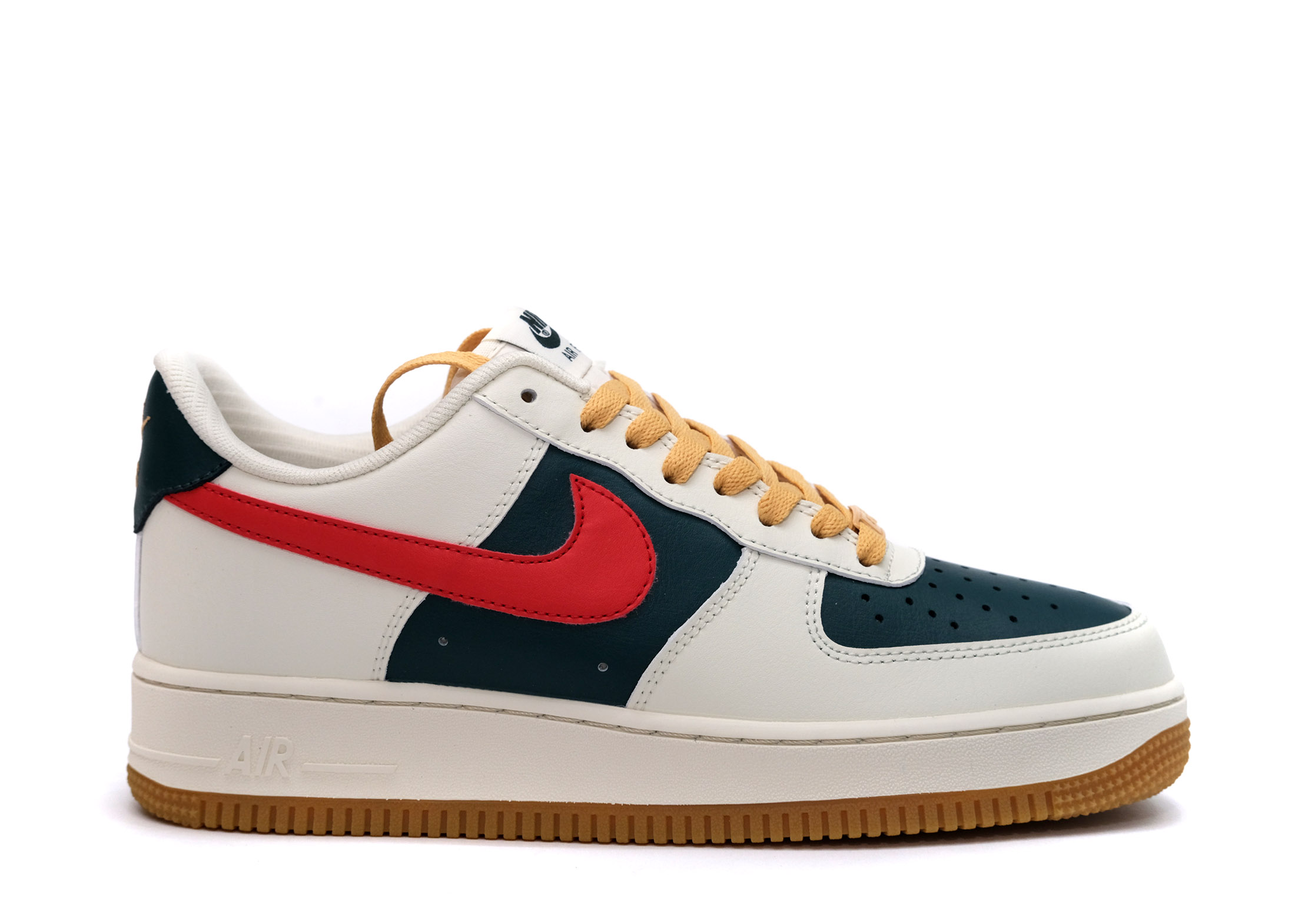 Air Force 1 Low Id Cream Green Red