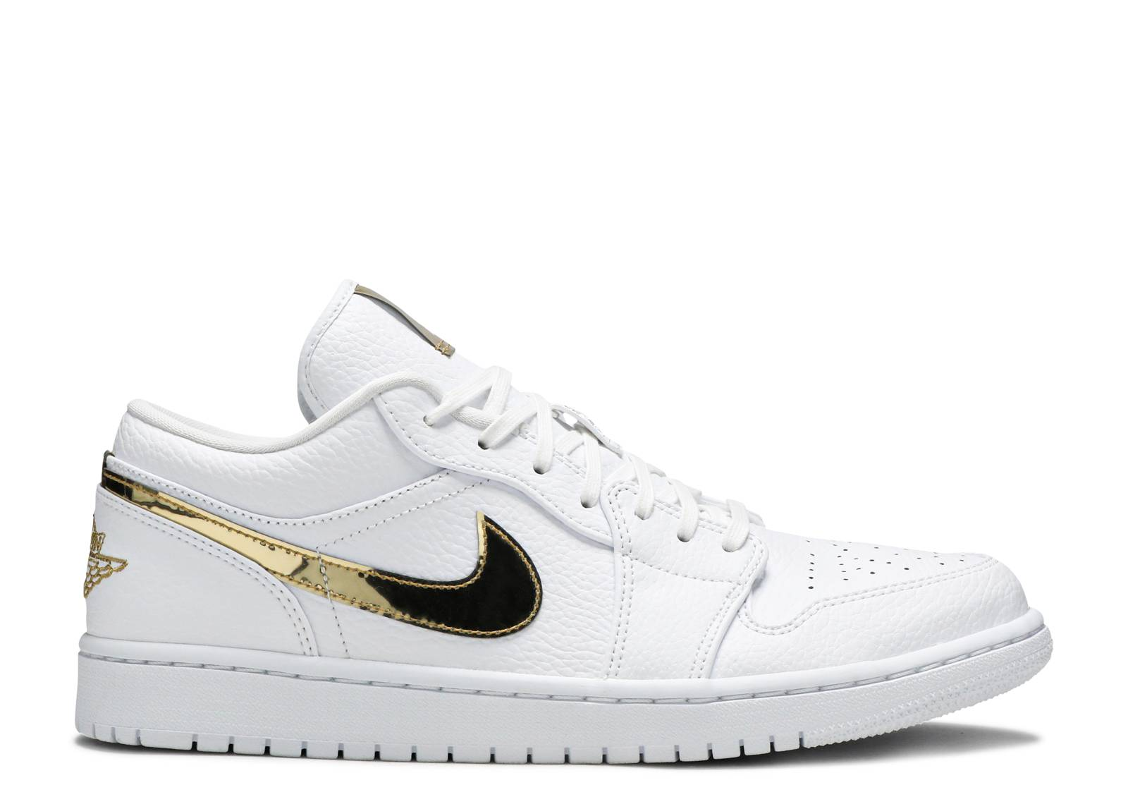 AIR JORDAN 1 RETRO LOW 'WHITE METALLIC GOLD'