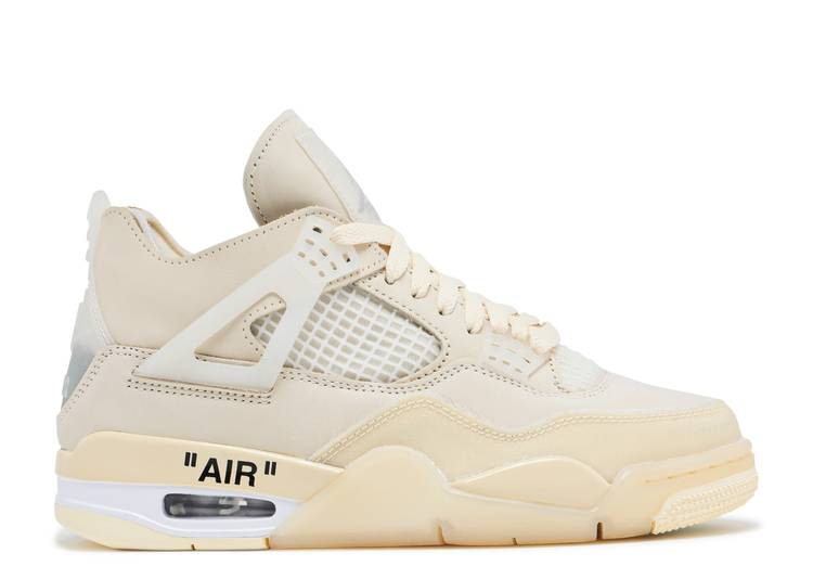 OFF-WHITE X WMNS AIR JORDAN 4 SP 'SAIL'
