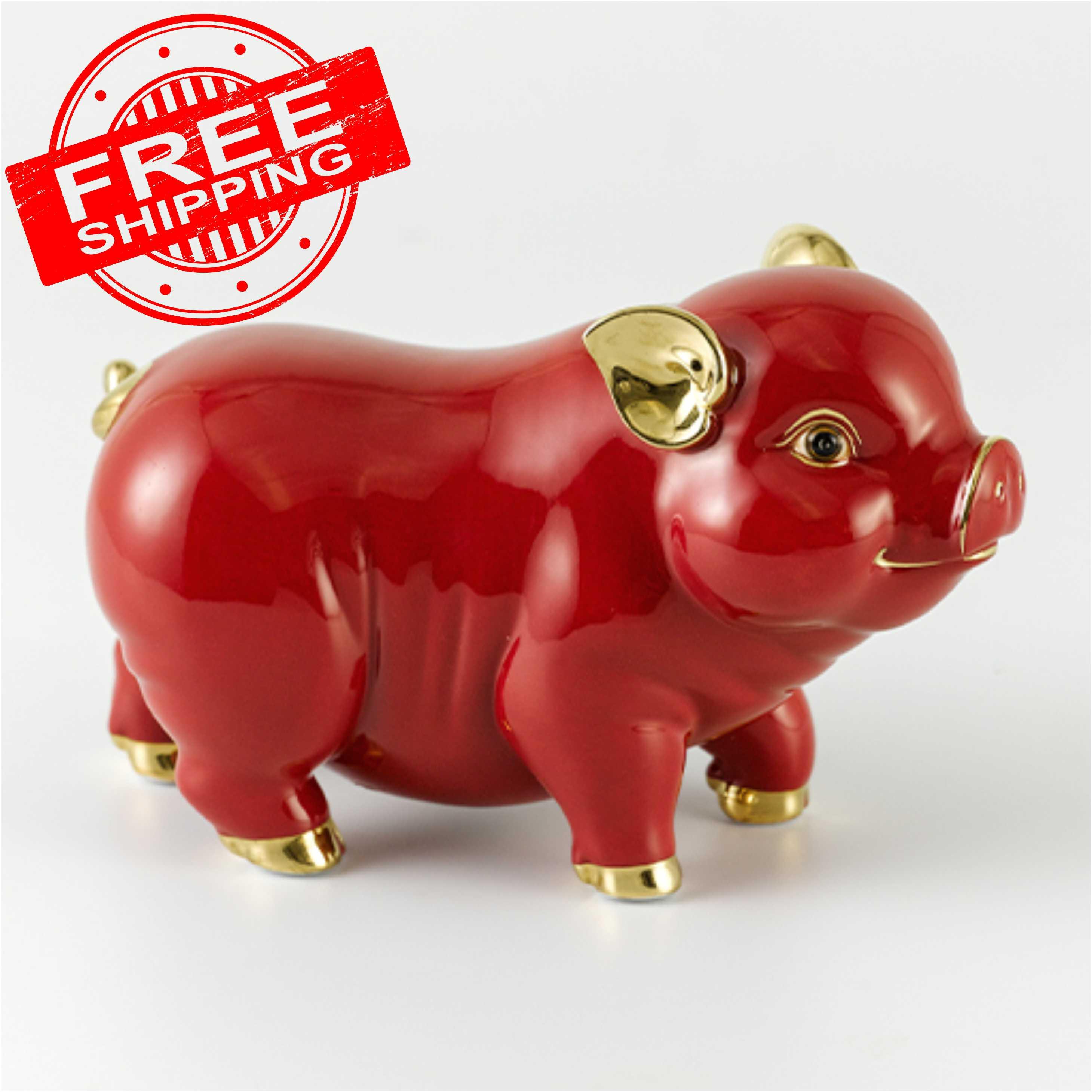 Tượng Tài Lộc 9cm - Đỏ Chỉ Vàng 00550507 Minh Long