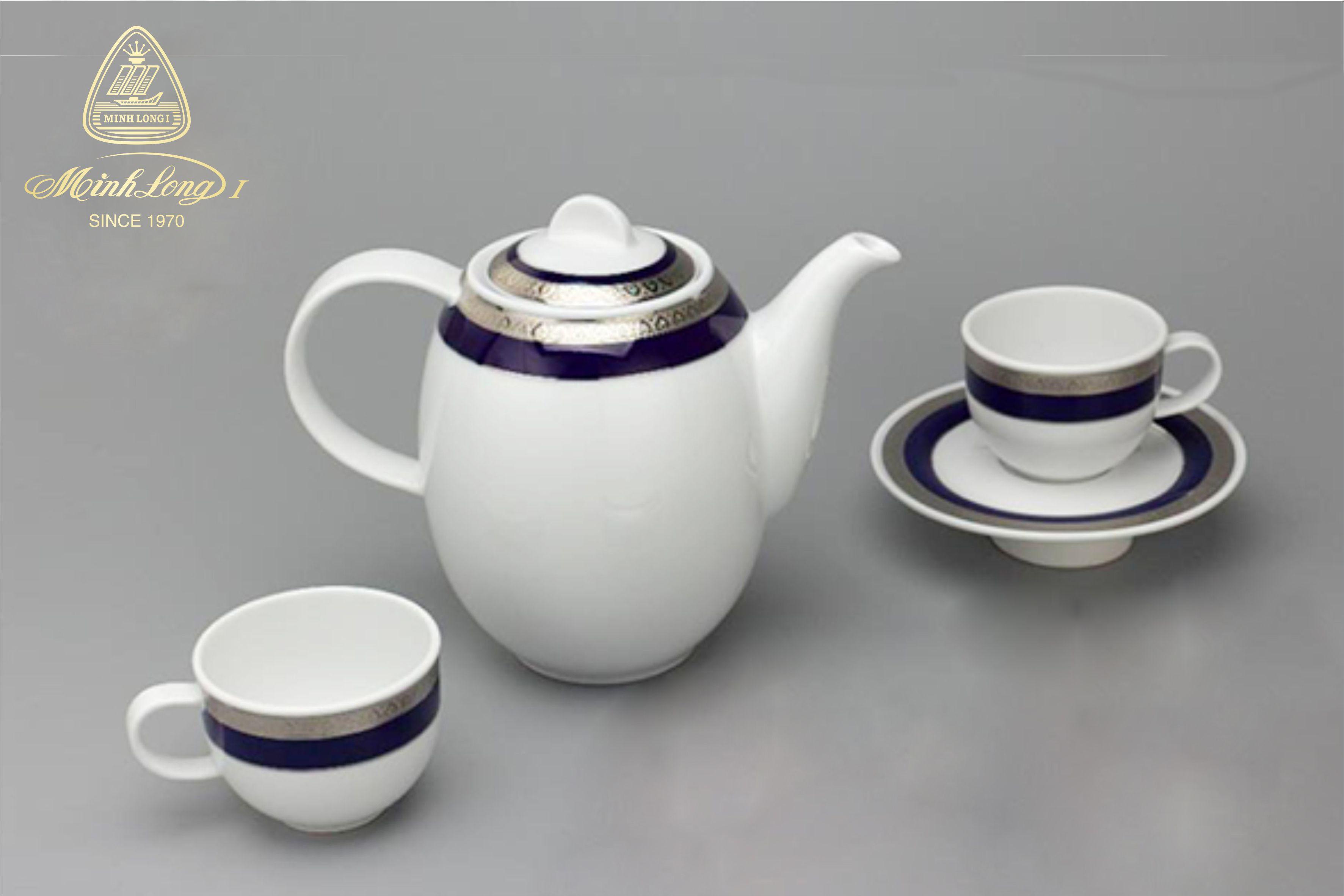 Bộ cà phê 0.8L Sago Thiên Tuế Xanh (Khắc Nỗi) 01080139203 Minh Long