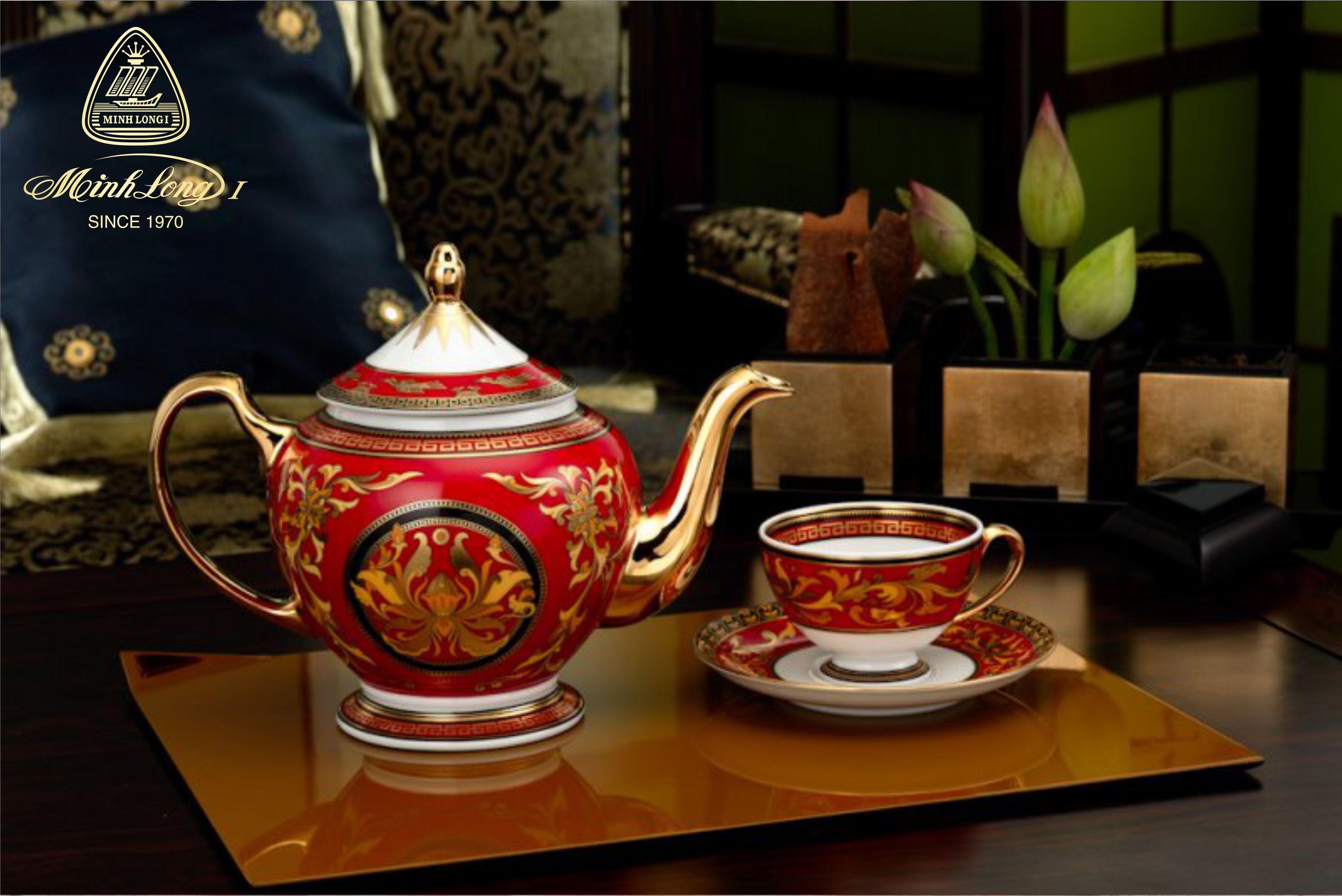Bộ trà 0.8L Hoàng Cung Quốc Sắc 01084006803 Minh Long