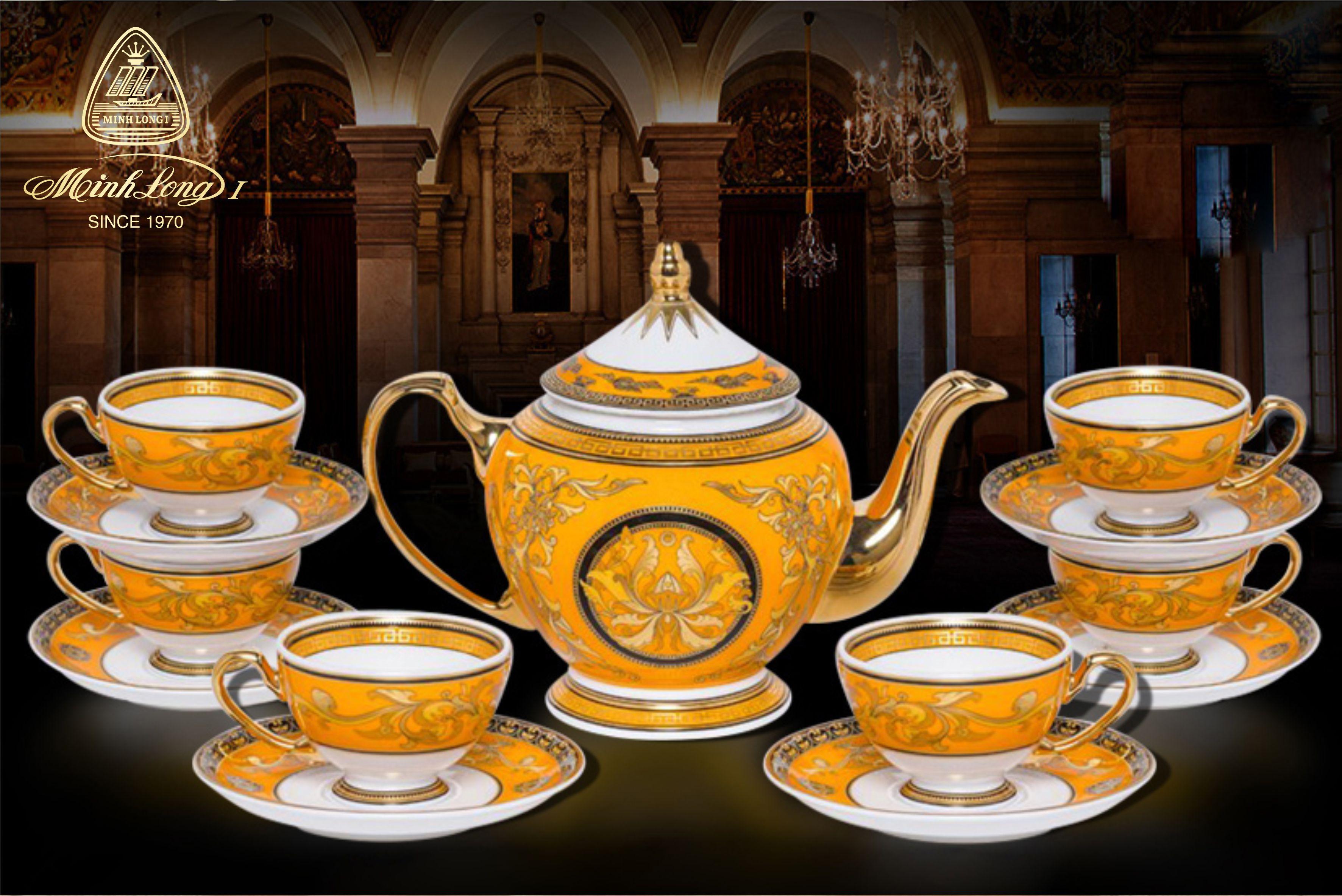 Bộ trà 0.8L Hoàng Cung Hoàng Bào Sen 01084013703 Minh Long