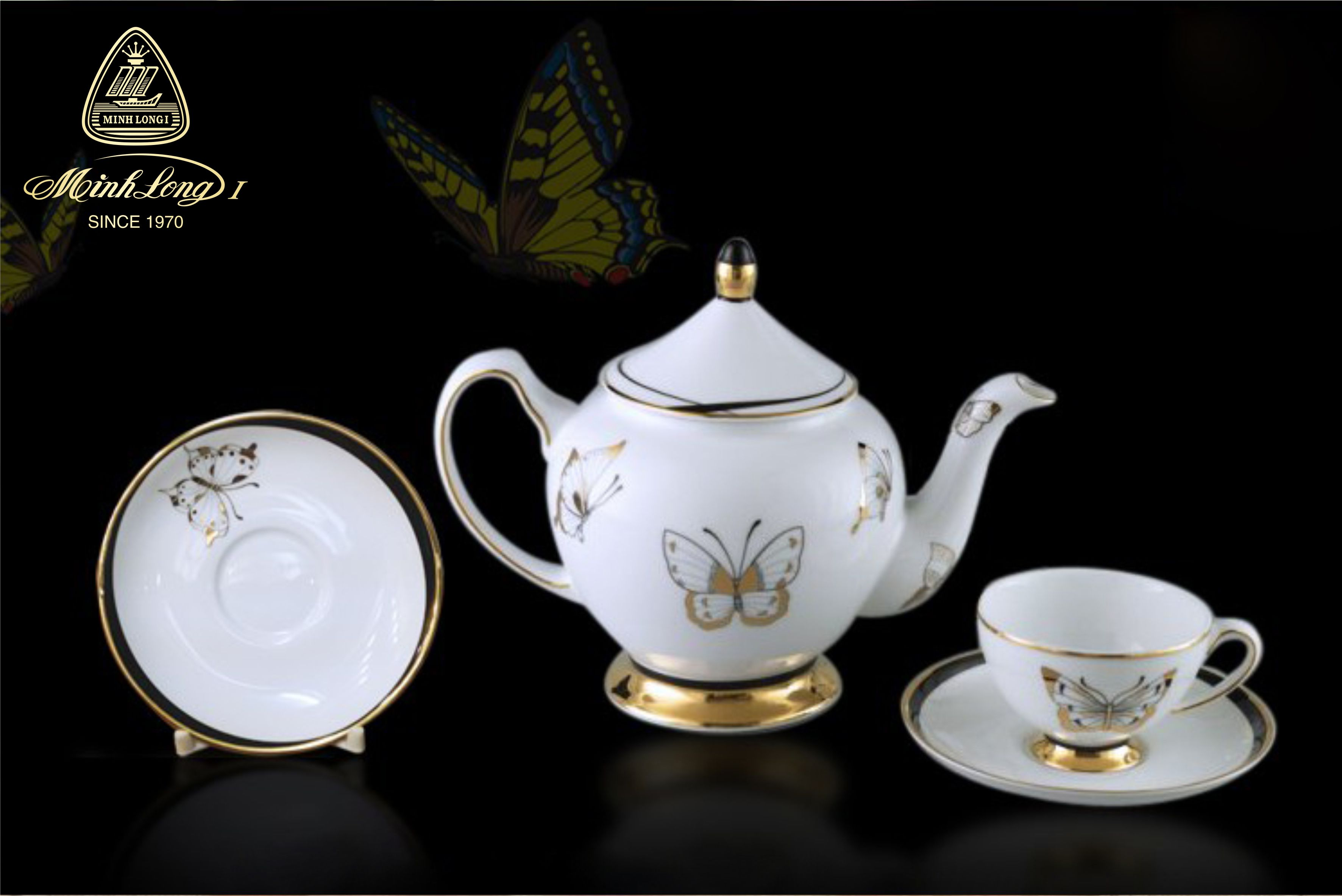 Bộ trà 0.8L Hoàng Cung Hoàng Điệp 01084026803 Minh Long