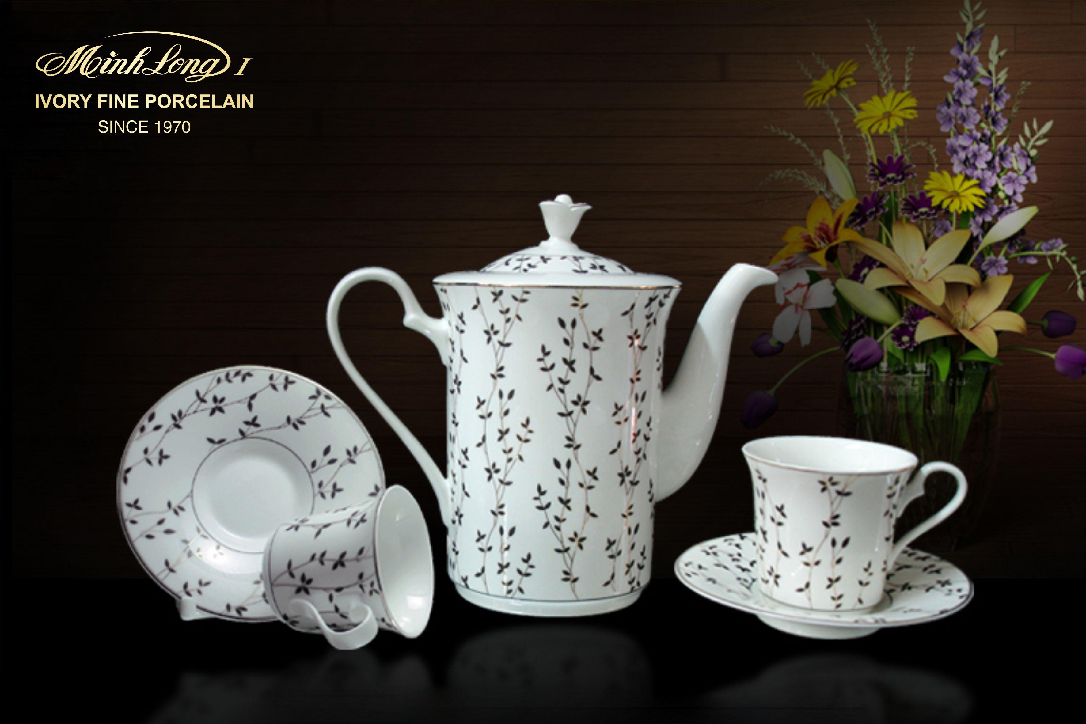 Bộ cà phê 0.8L Tulip Ngà Awakening 01084318103 Minh Long