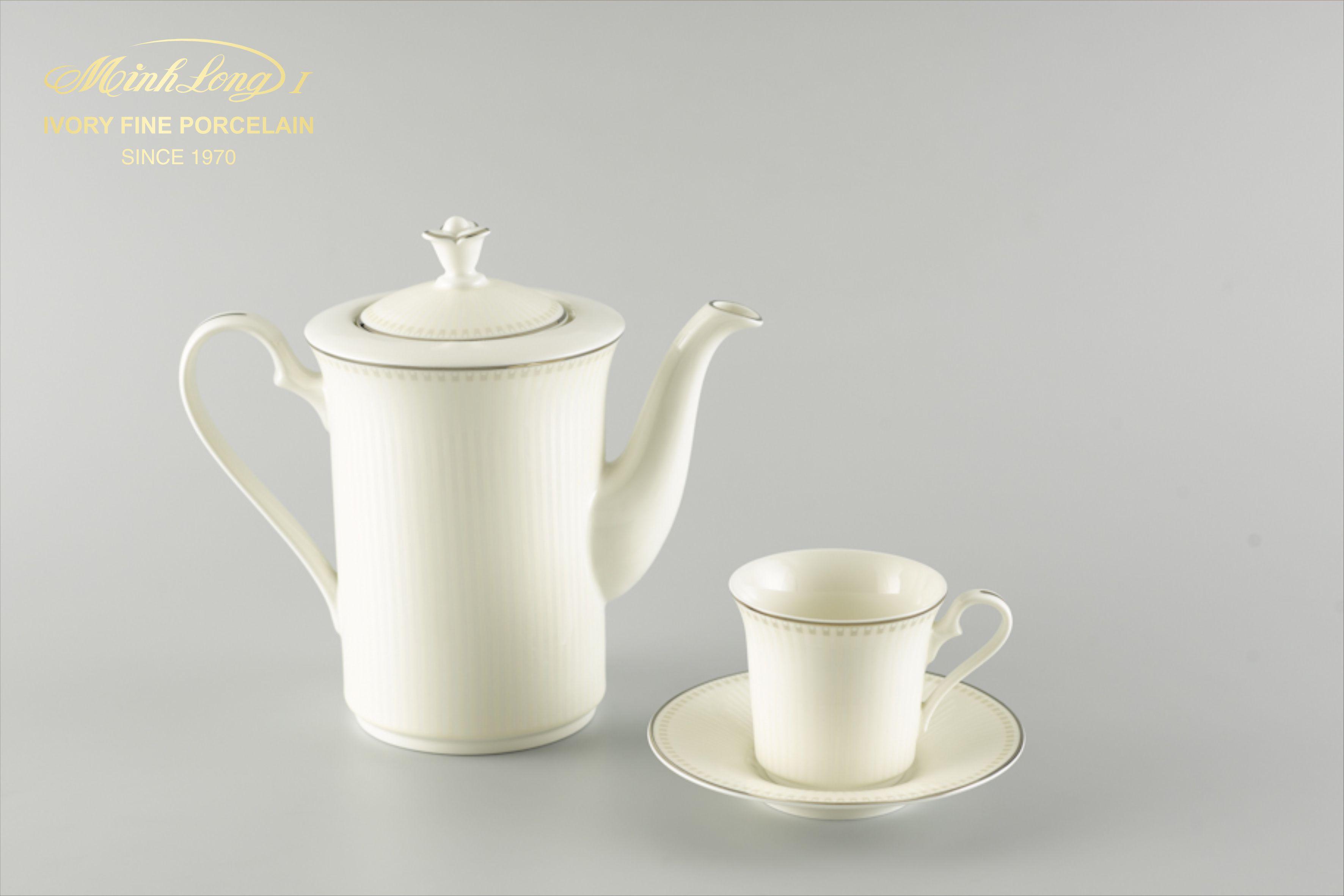 Bộ cà phê 0.8L Tulip Ngà Ngân Sa 01084329303 Minh Long