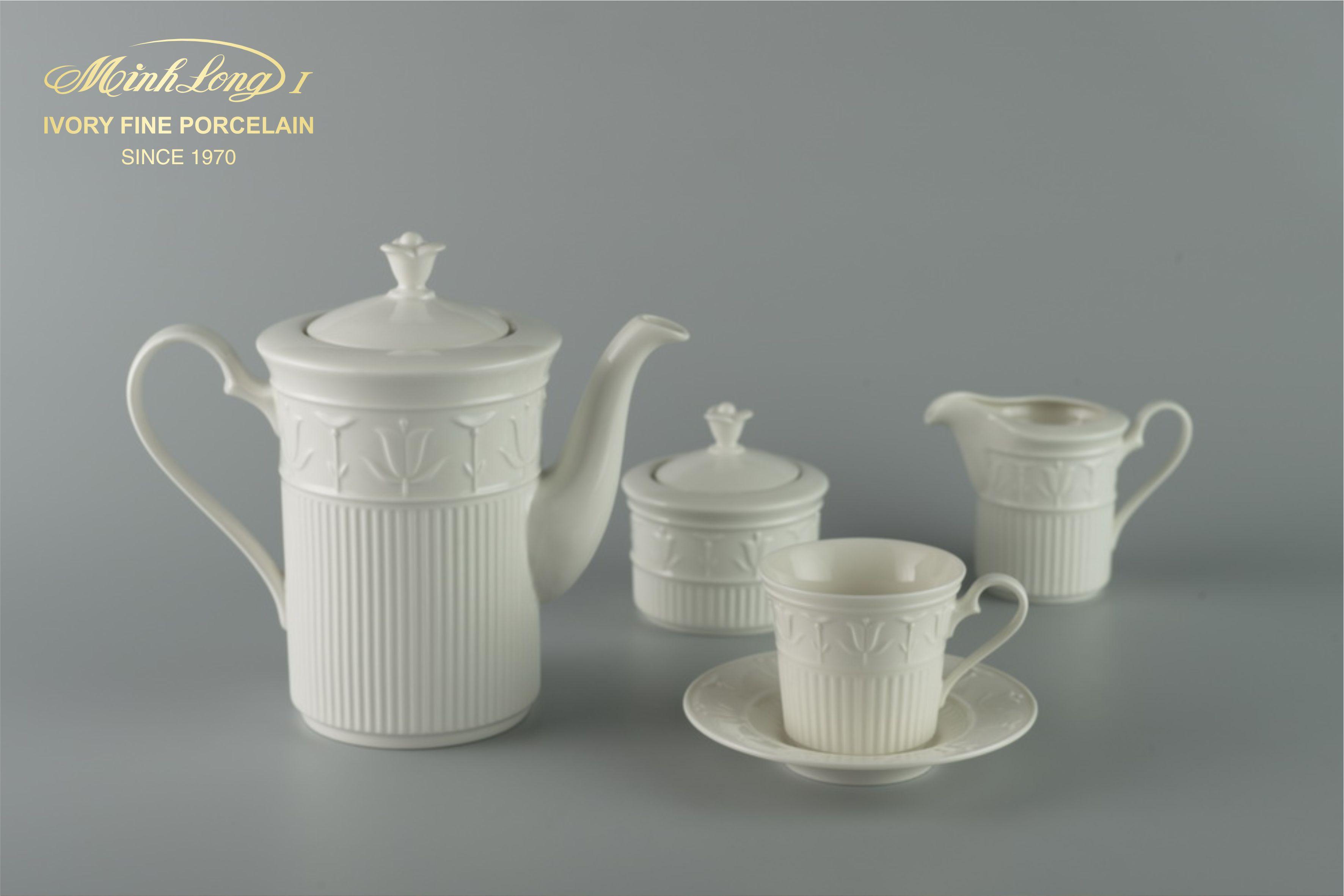 Bộ cà phê 1.25L Tulip Nỗi Trắng Ngà 01124200003 Minh Long