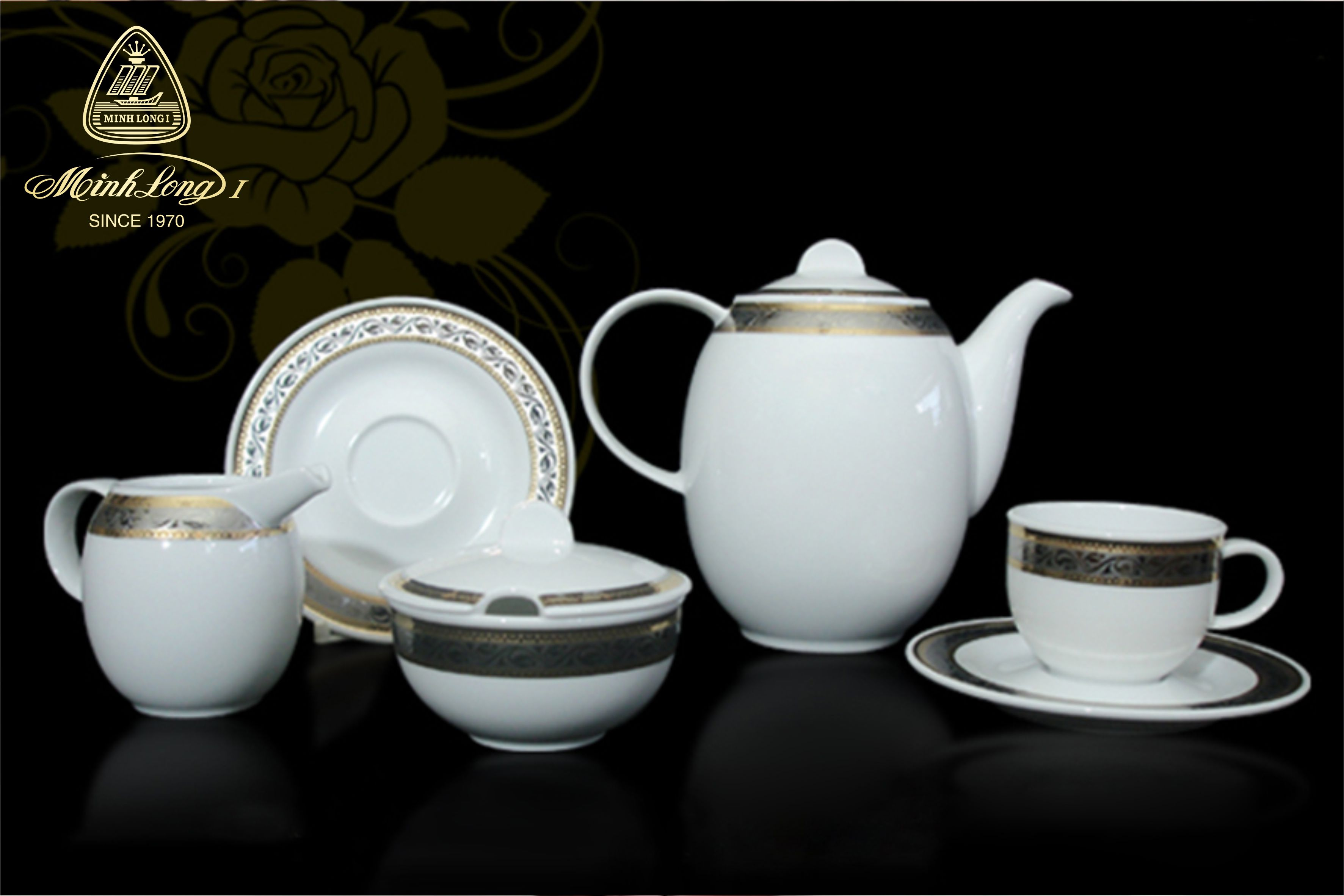 Bộ cà phê 1.3L Sago Hoa Hồng 01130101703 Minh Long