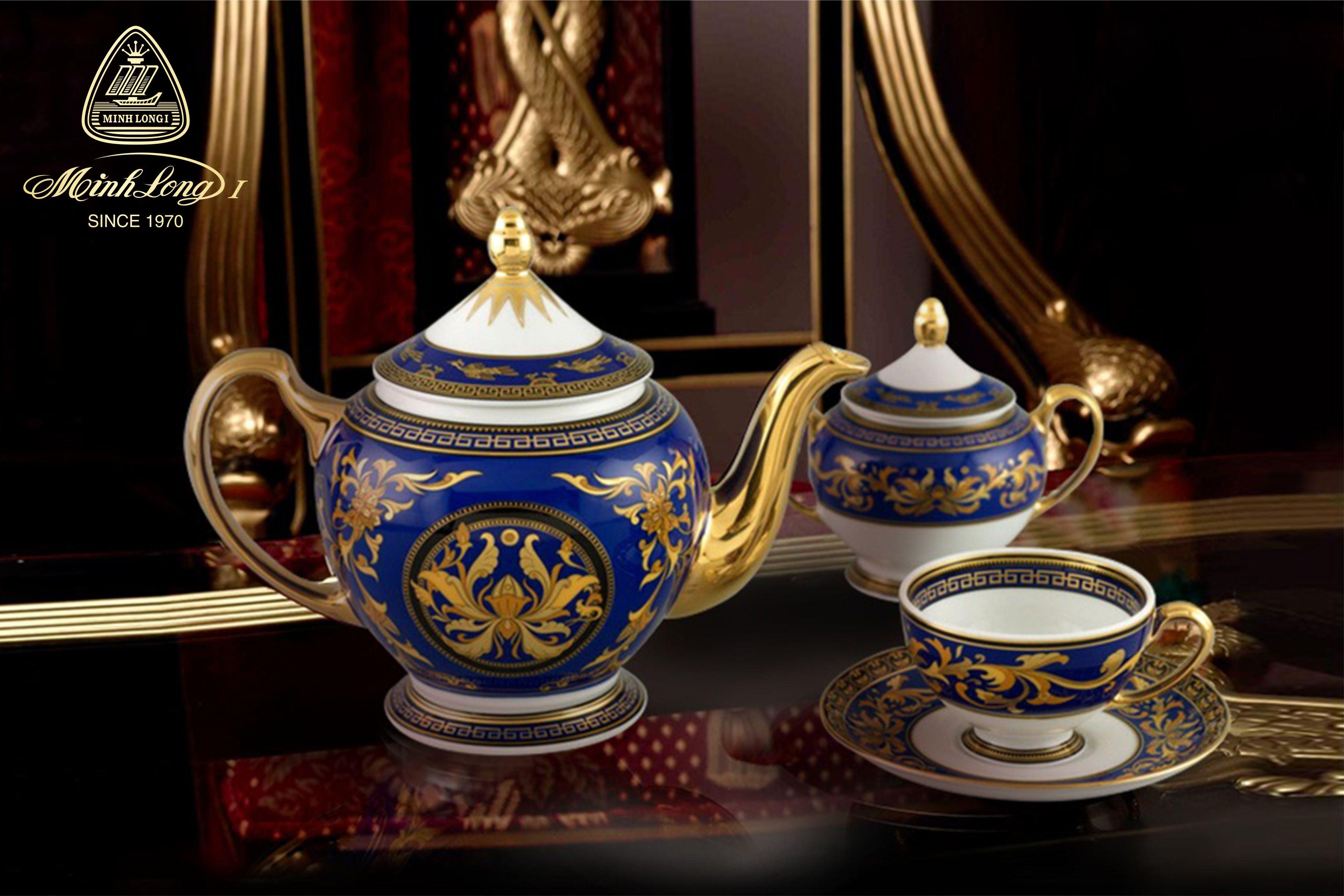 Bộ trà 1.3L Hoàng Cung Cẩm Tú 01134004003 Minh Long